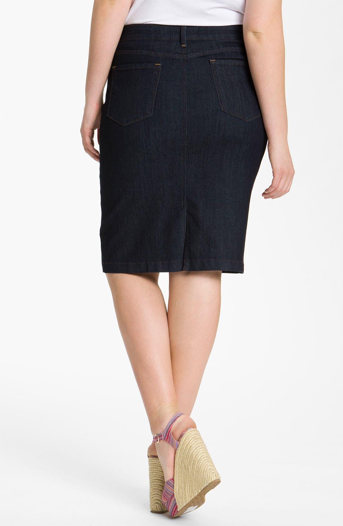 Alternate Image 2  - NYDJ 'Emma' Stretch Twill Skirt (Plus Size)