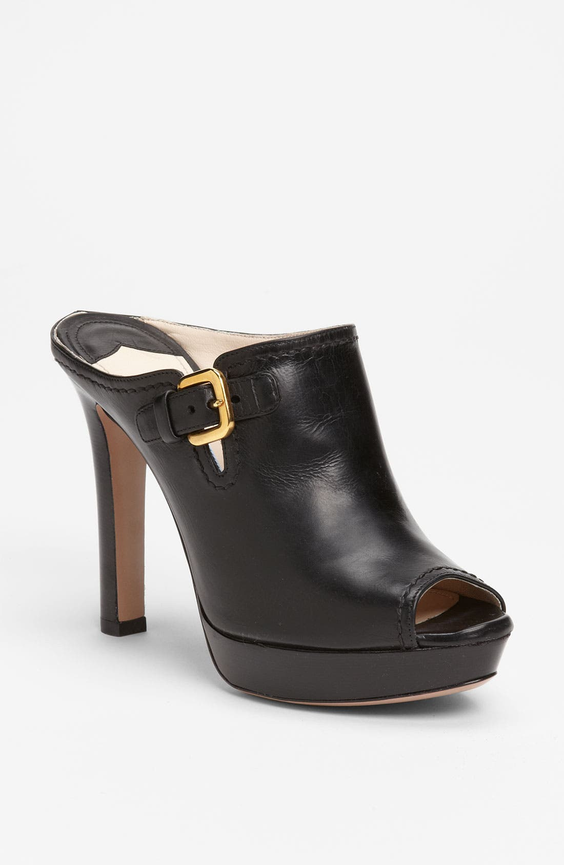 Alternate Image 1 Selected - Prada Buckle Peep Toe Mule