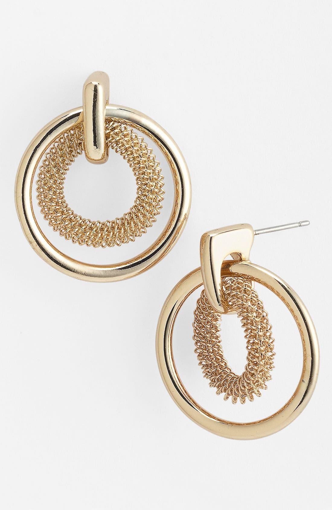 Alternate Image 1 Selected - Anne Klein Door Knocker Earrings