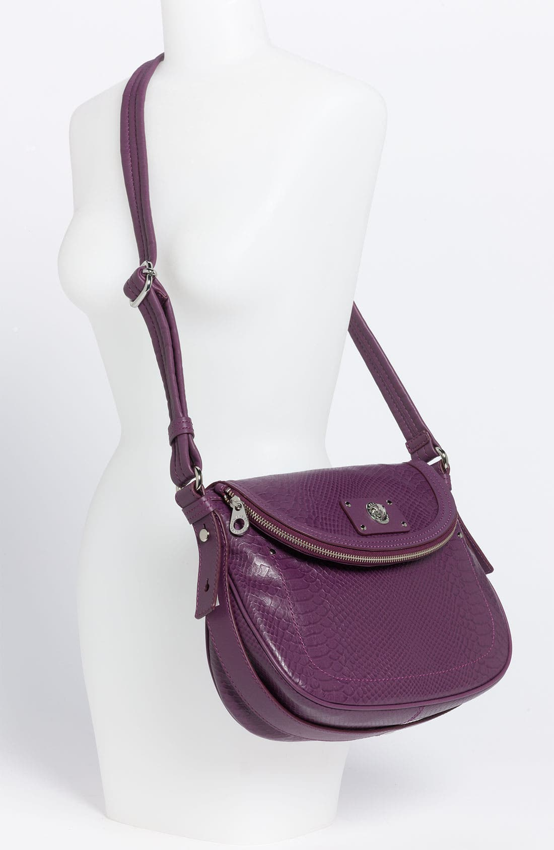 Alternate Image 2  - MARC BY MARC JACOBS 'Totally Turnlock - Natasha' Python Embossed Crossbody Bag
