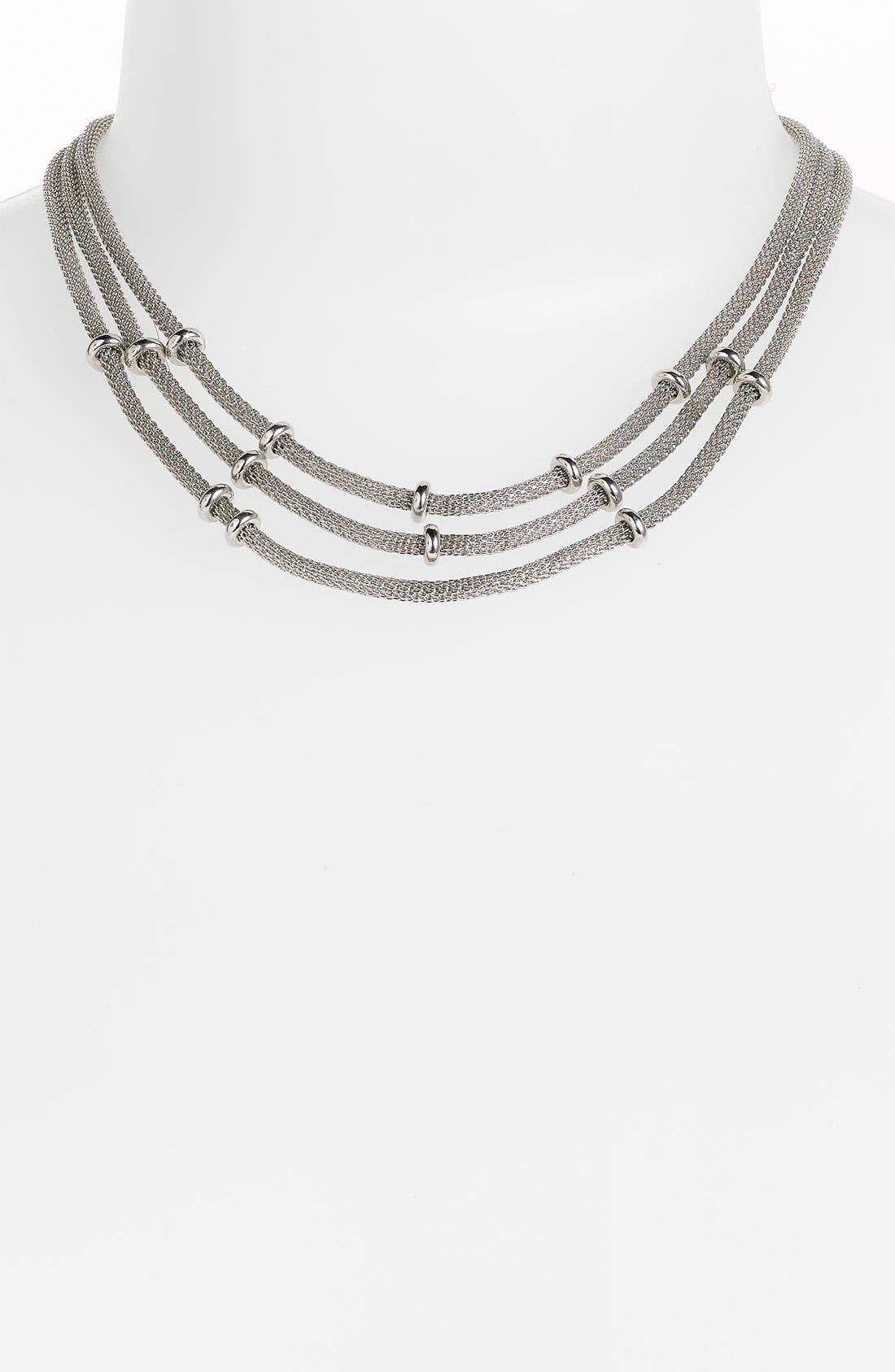 Alternate Image 1 Selected - Anne Klein Triple Strand Mesh Necklace