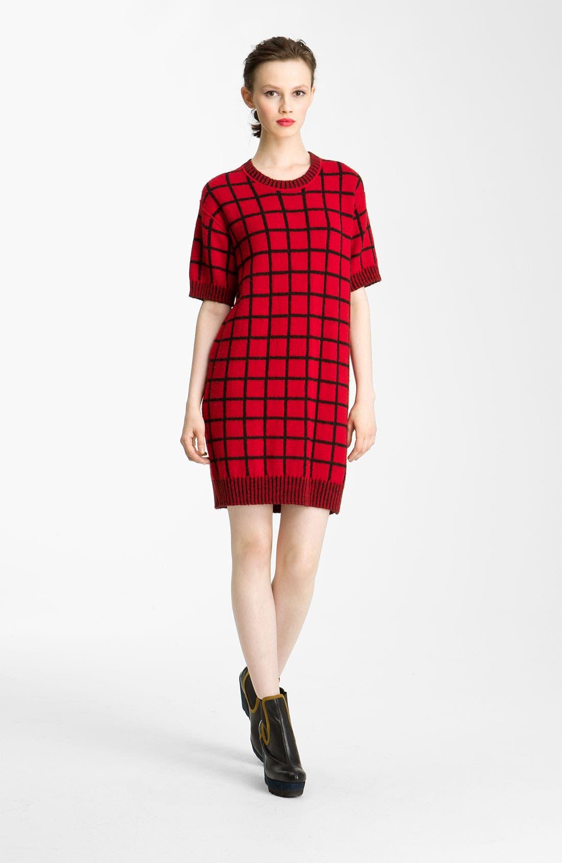 Alternate Image 1 Selected - KENZO Windowpane Knit Dress