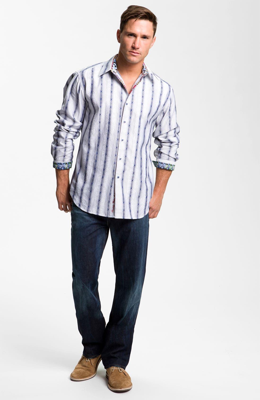 Alternate Image 4  - Robert Graham Jeans 'Yates' Classic Fit Jeans (Atlantic)