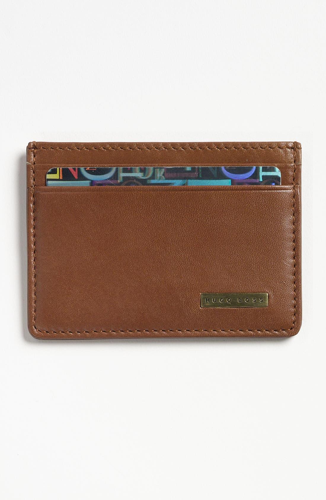 Alternate Image 1 Selected - BOSS 'Bellness' Leather Card Holder