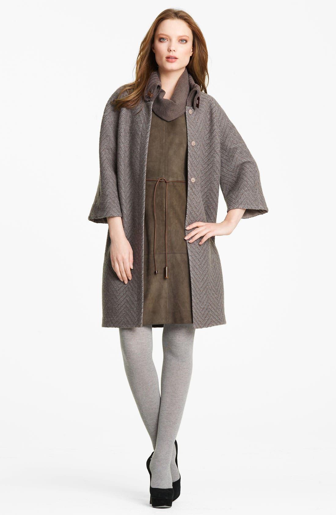 Alternate Image 5  - Fabiana Filippi Belted Suede & Knit Dress