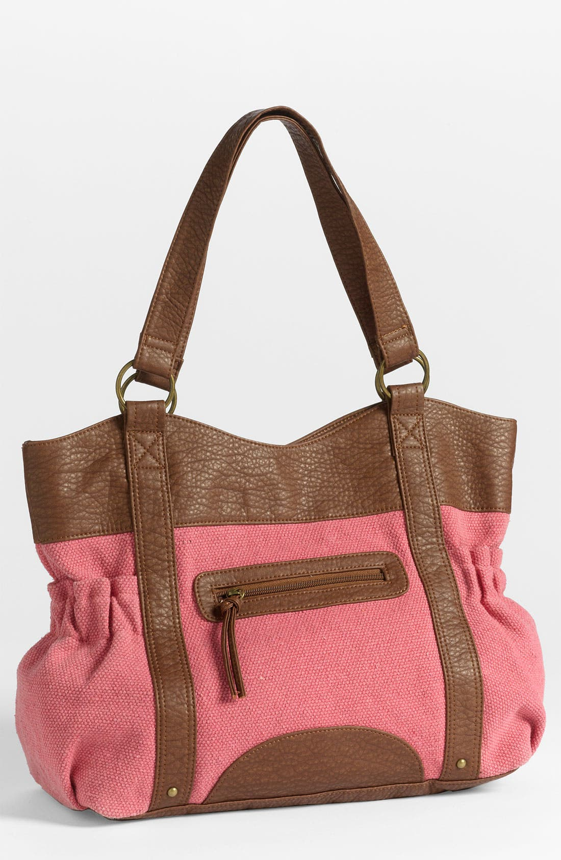 Alternate Image 1 Selected - T-Shirt & Jeans Canvas & Faux Leather Tote