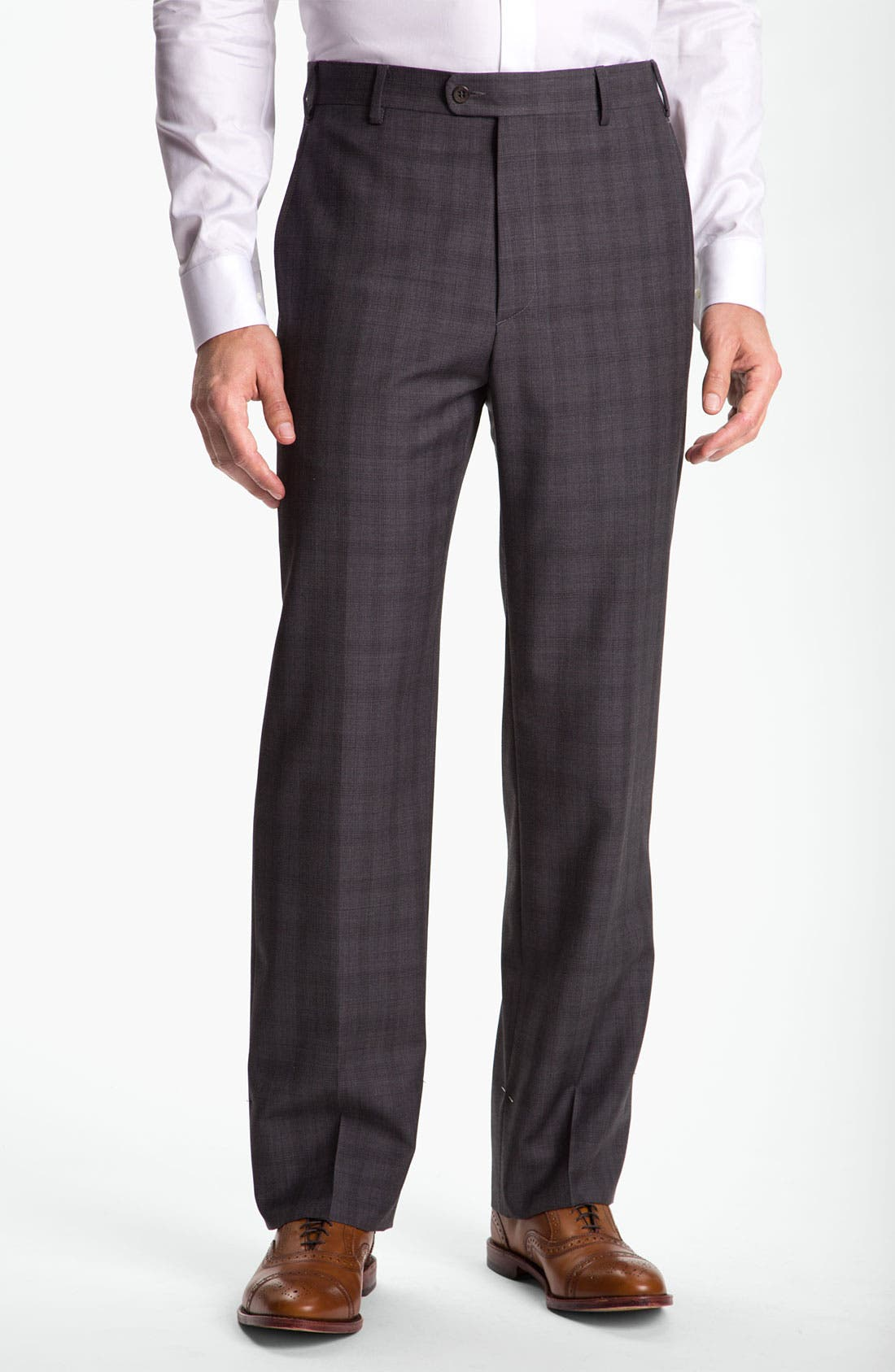 Alternate Image 1 Selected - Zanella 'Todd' Plaid Trousers