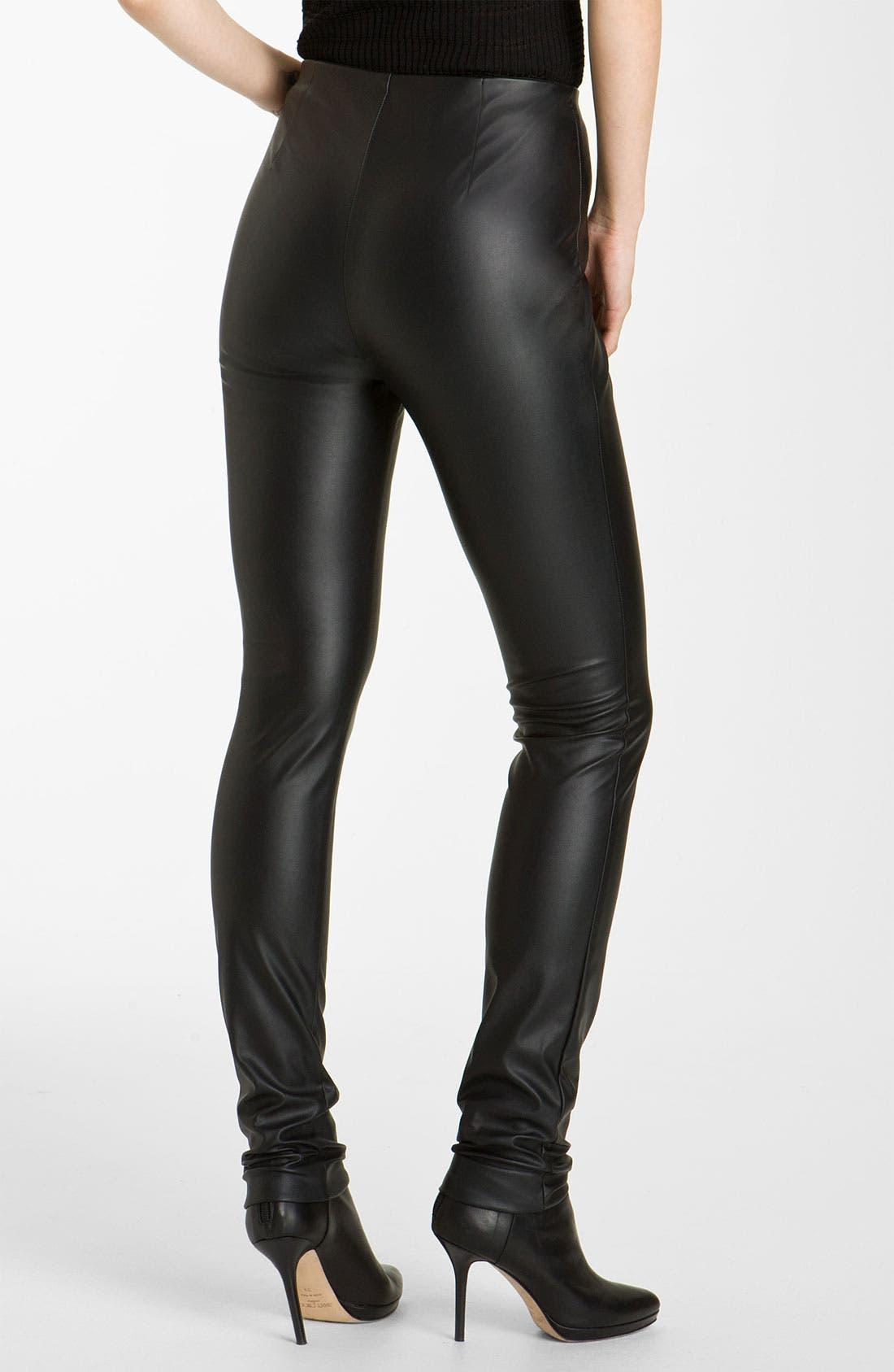 Alternate Image 2  - M Missoni Faux Leather Leggings