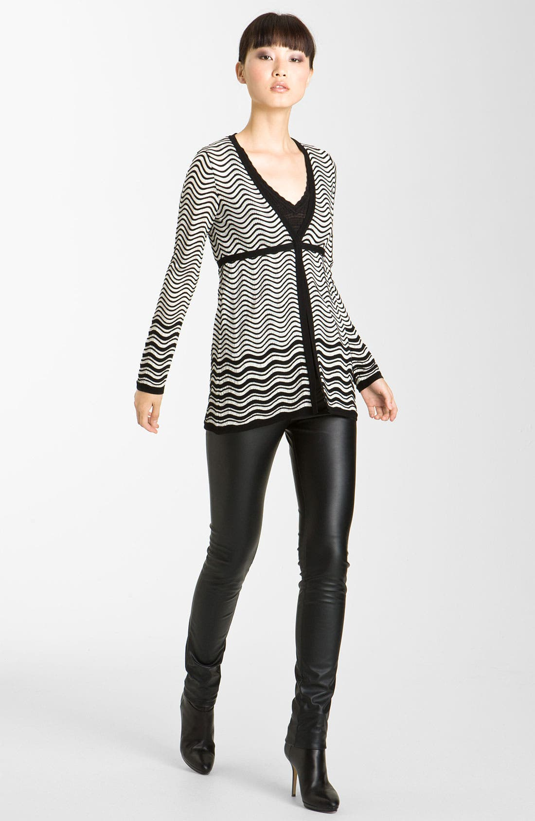 Main Image - M Missoni Pointelle Wave Stripe Cardigan
