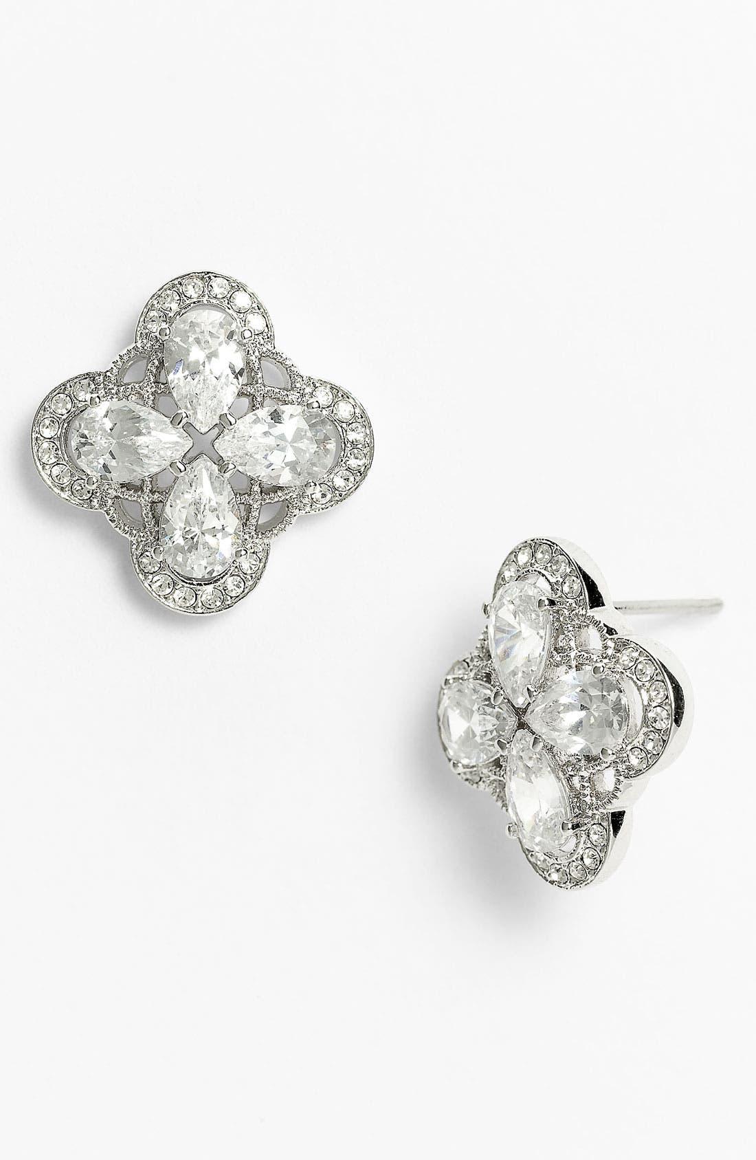 Main Image - Nadri 'Ariel' Button Stud Earrings (Nordstrom Exclusive)