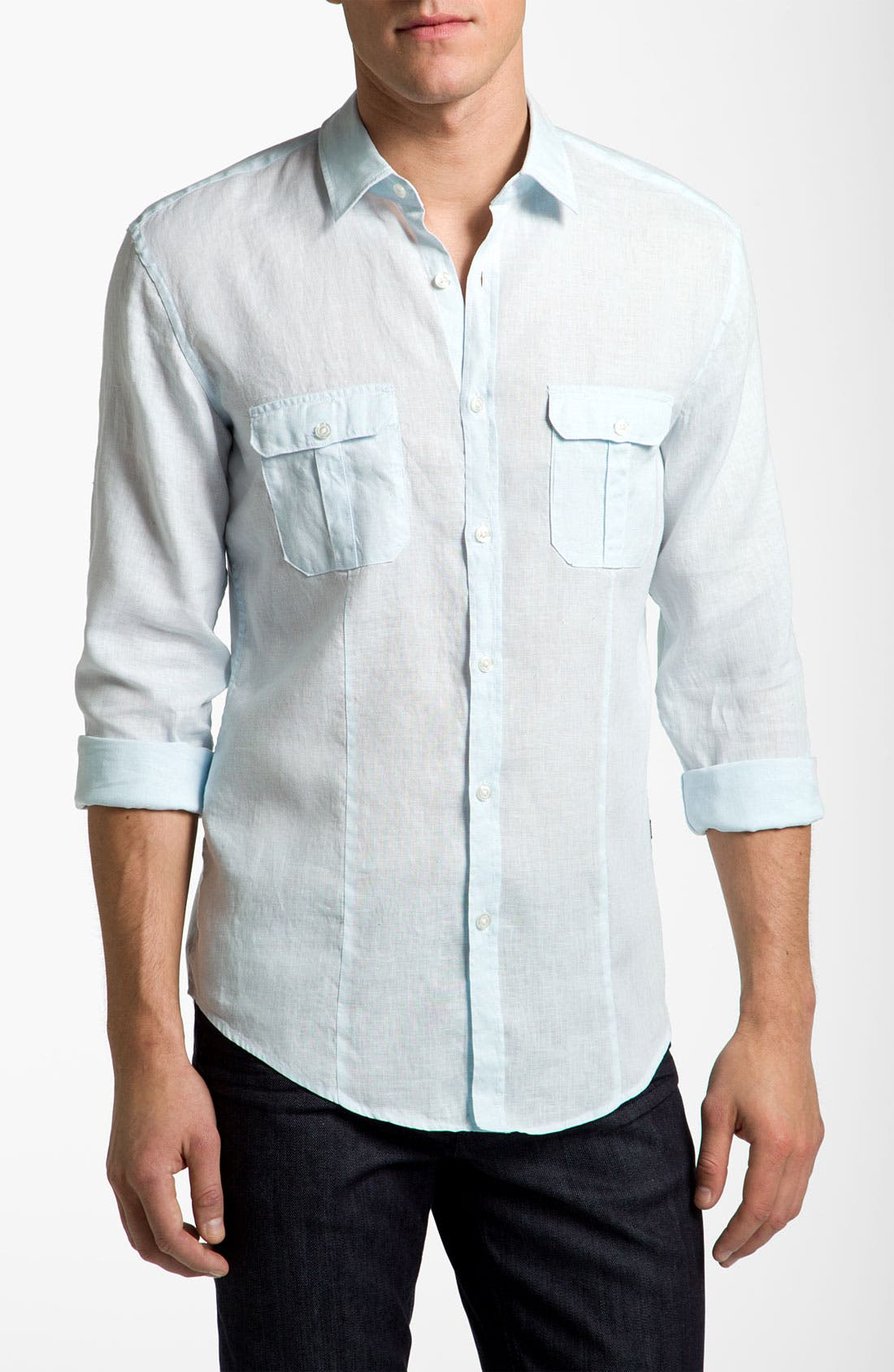 Alternate Image 1 Selected - BOSS Black 'Orsino' Slim Fit Shirt