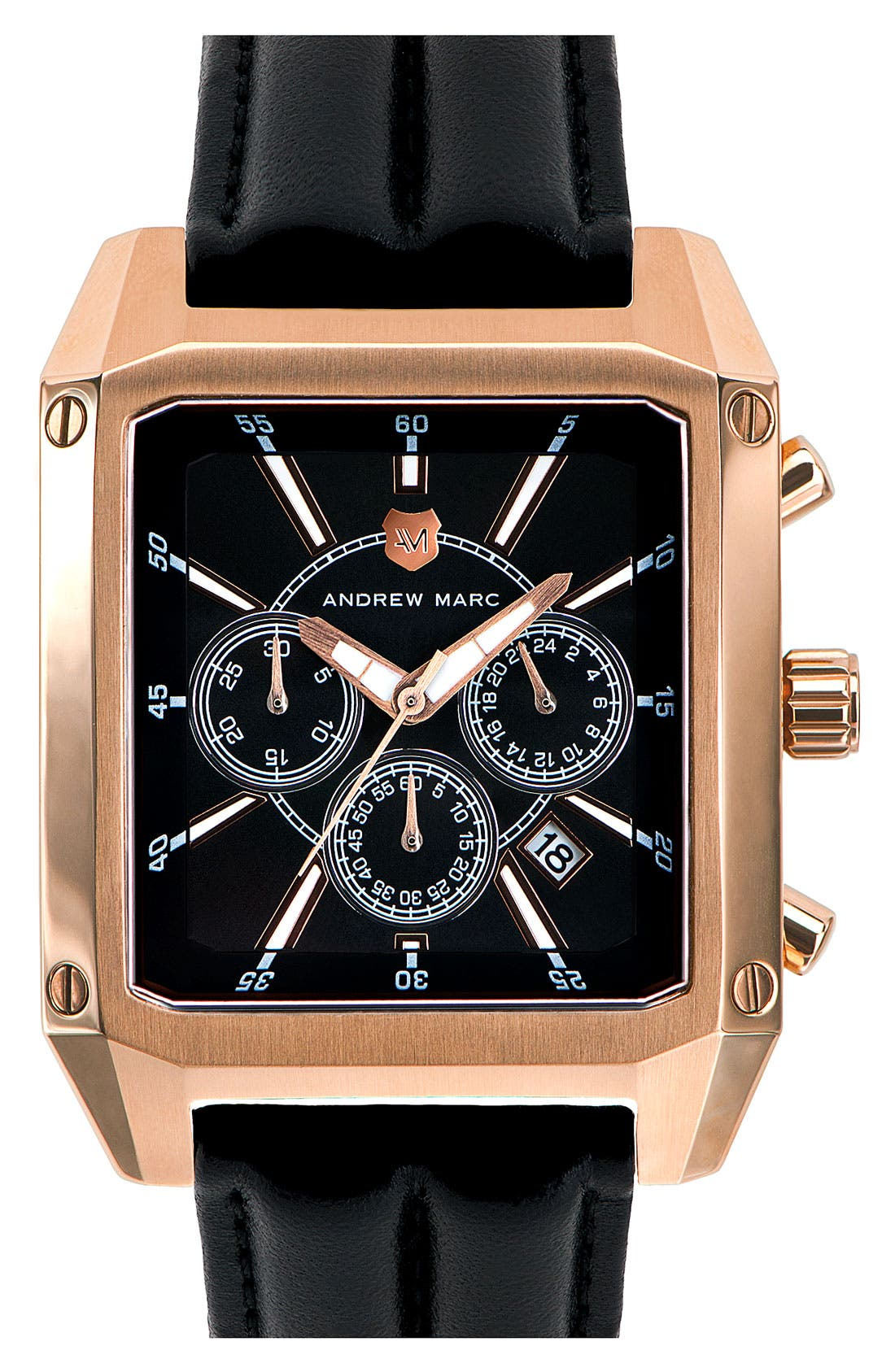 Main Image - Andrew Marc Watches 'Club Patrol' Chronograph Leather Strap Watch
