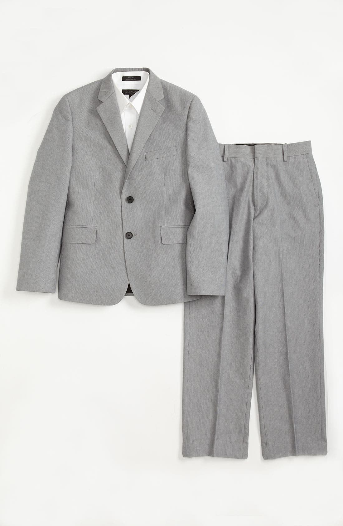 Main Image - C2 by Calibrate Suit Jacket, Dress Shirt & Trousers (Big Boys)