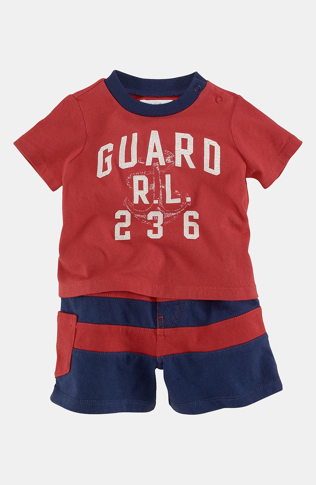 Alternate Image 1 Selected - Ralph Lauren T-Shirt & Shorts (Infant)