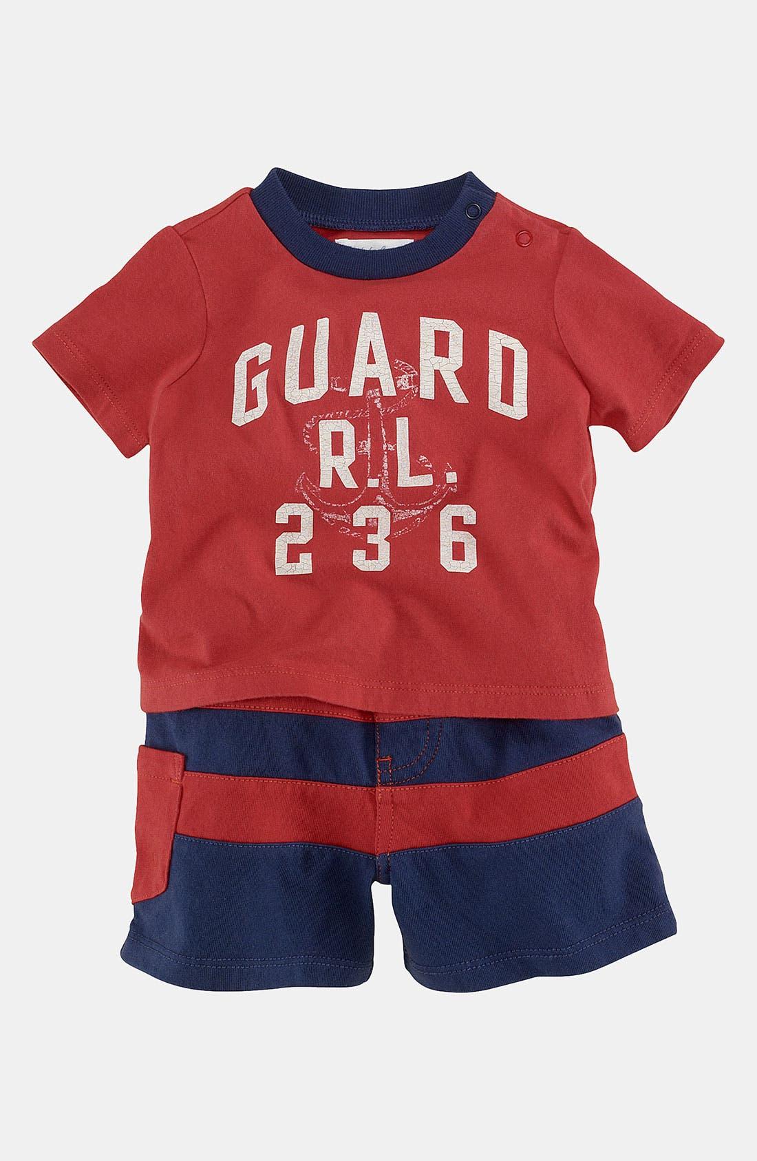 Main Image - Ralph Lauren T-Shirt & Shorts (Infant)