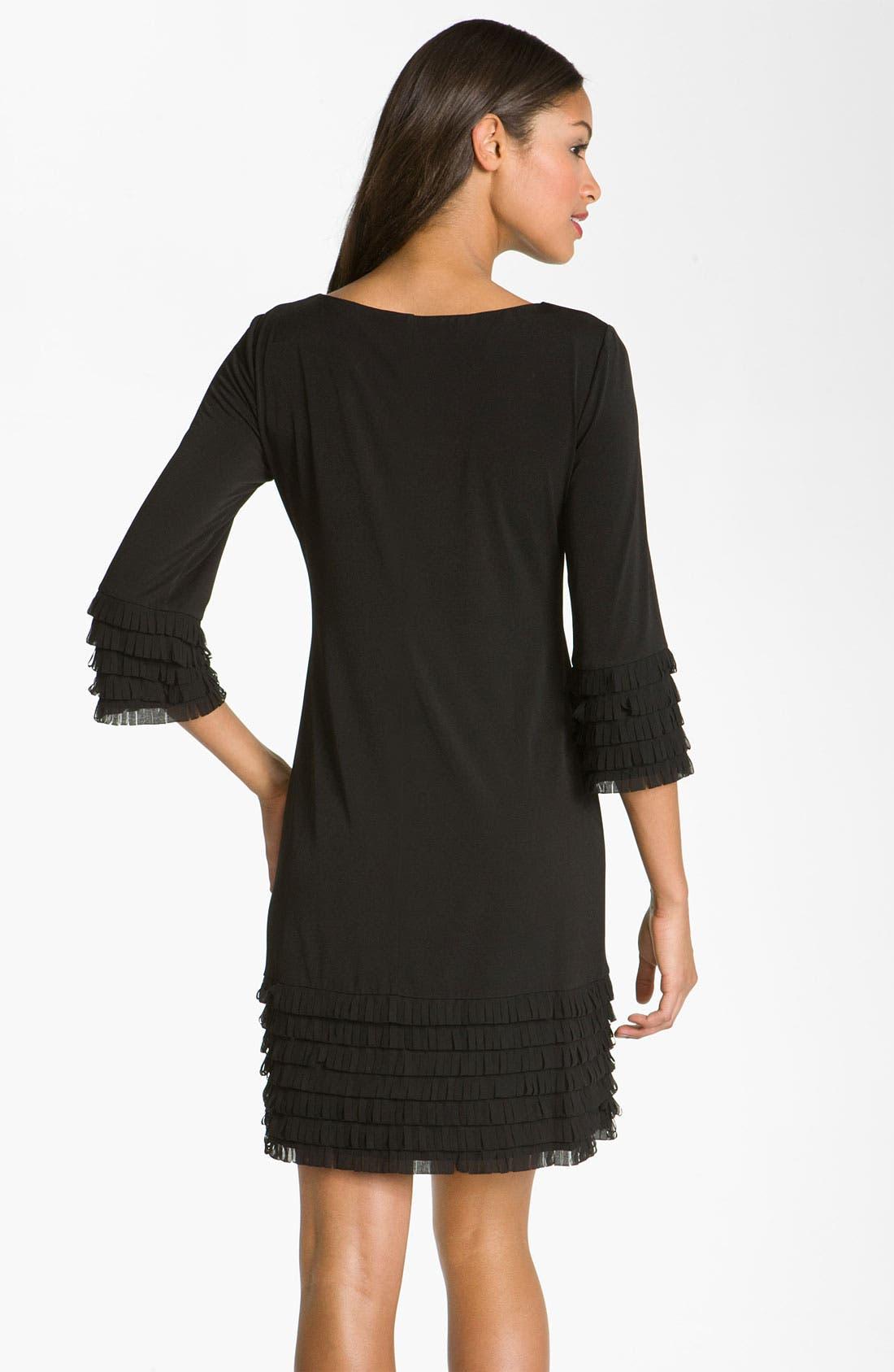 Alternate Image 2  - Donna Morgan Fringe Detail Matte Jersey Shift Dress
