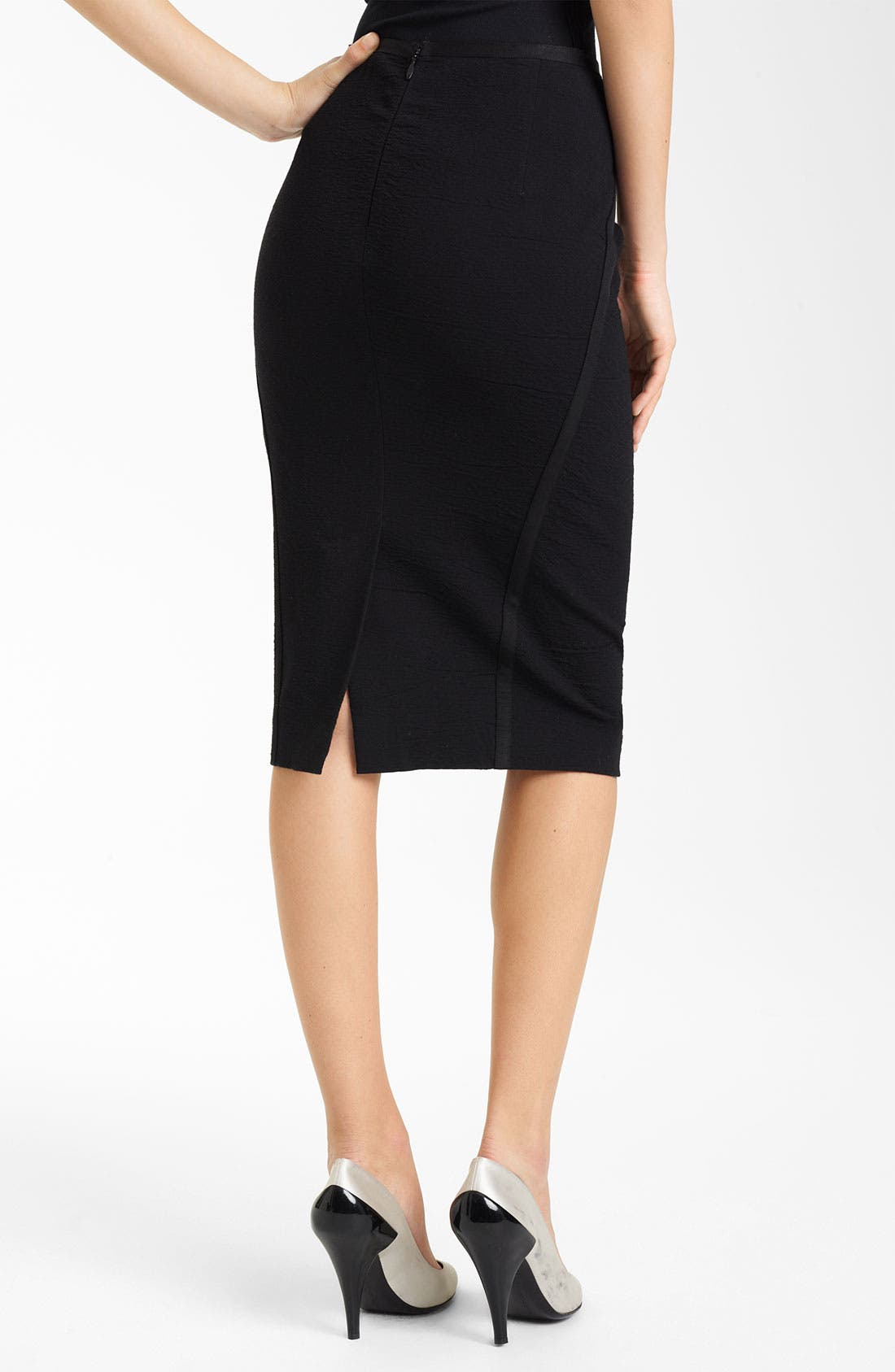 Alternate Image 3  - Donna Karan Collection Crepe Canvas Pencil Skirt