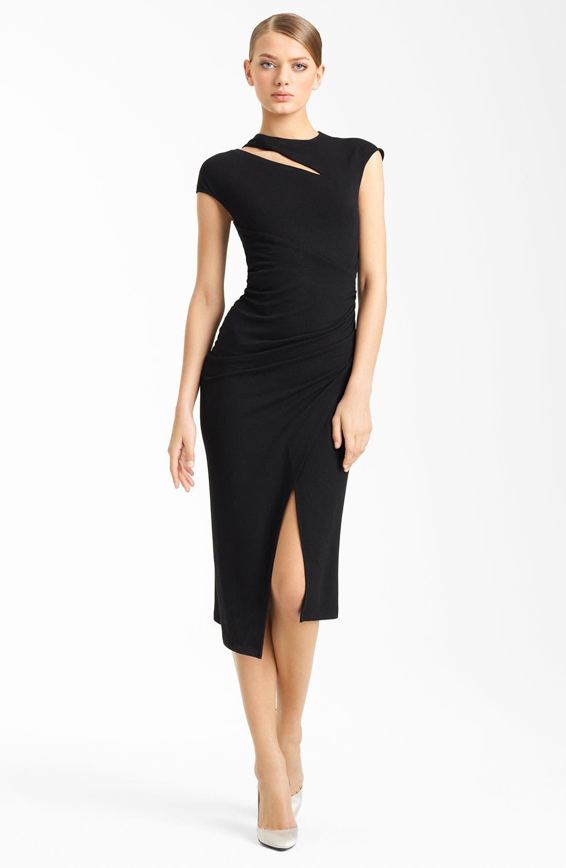 Main Image - Donna Karan Collection Side Drape Jersey Dress