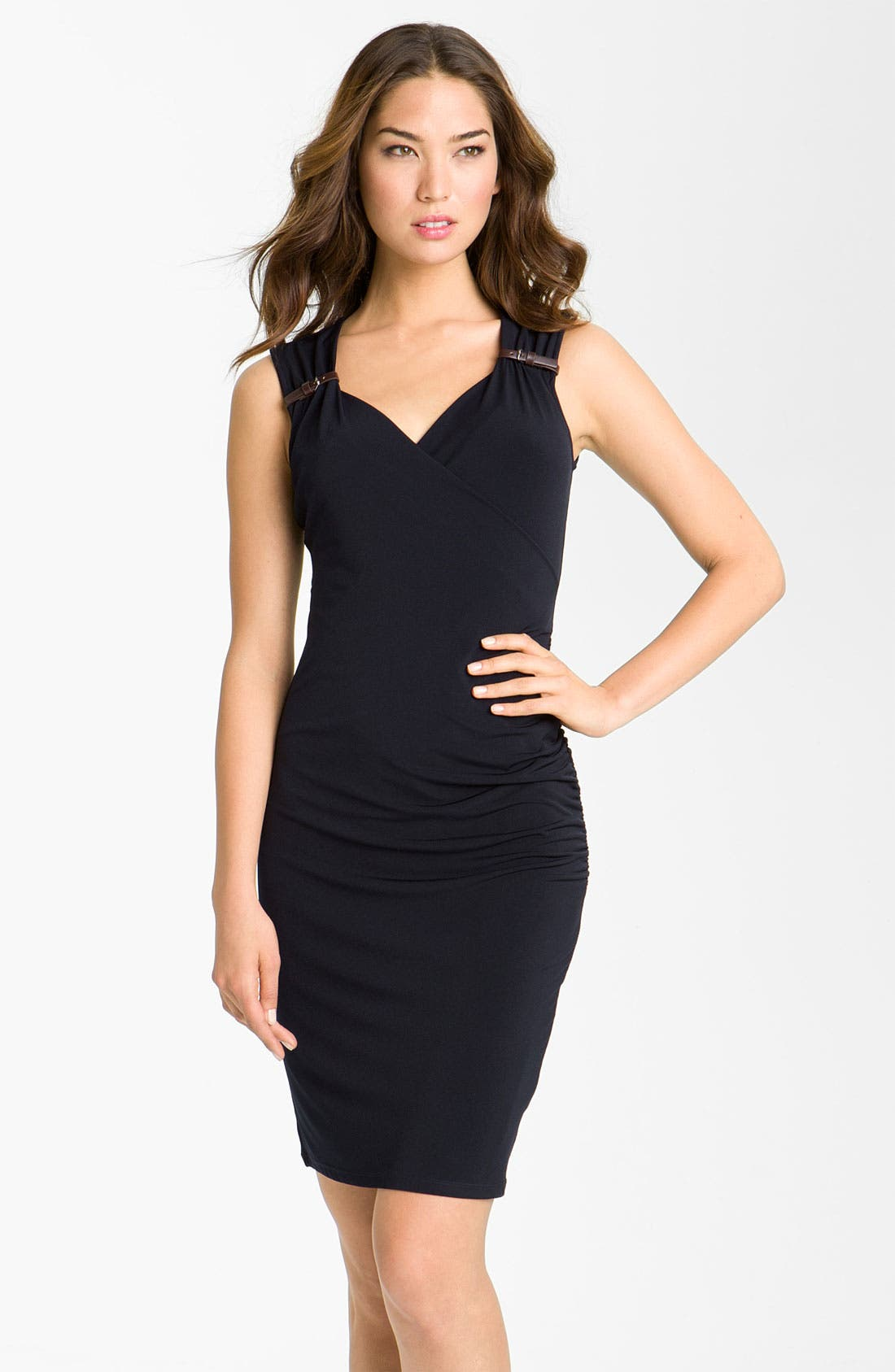 Alternate Image 1 Selected - MICHAEL Michael Kors Sweetheart Knit Dress (Petite)