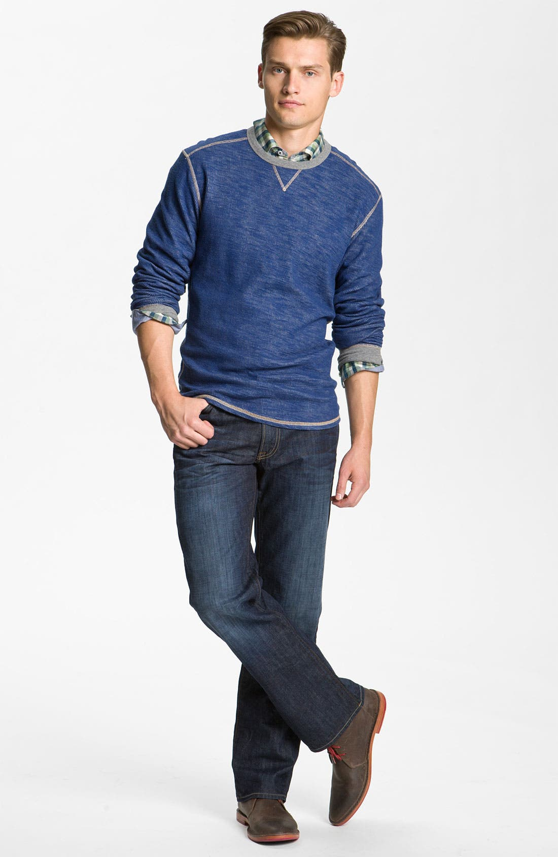 Alternate Image 6  - Lucky Brand '361 Vintage' Straight Leg Jeans (Dark Creek)