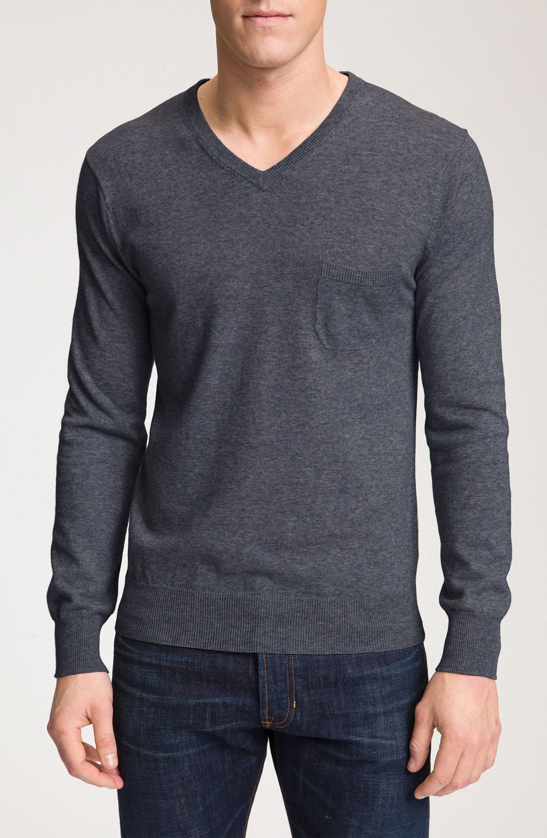 Alternate Image 1 Selected - Vince Long Sleeve V-Neck Sweater