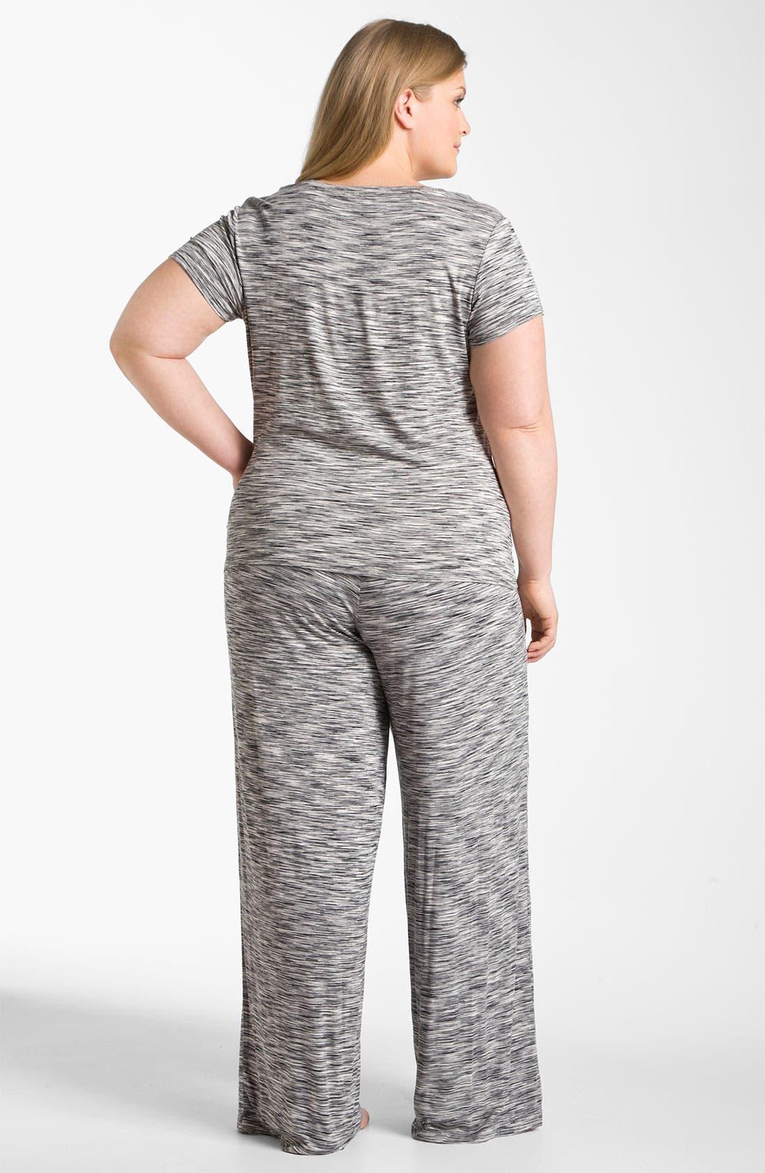 Alternate Image 5  - Hue Space Dye Pajama Pants (Plus)