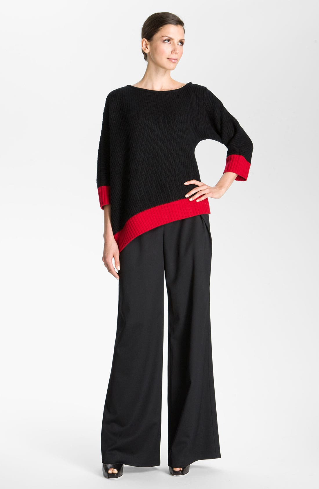 Alternate Image 6  - St. John Collection Inverted Fold Wide Leg Pants