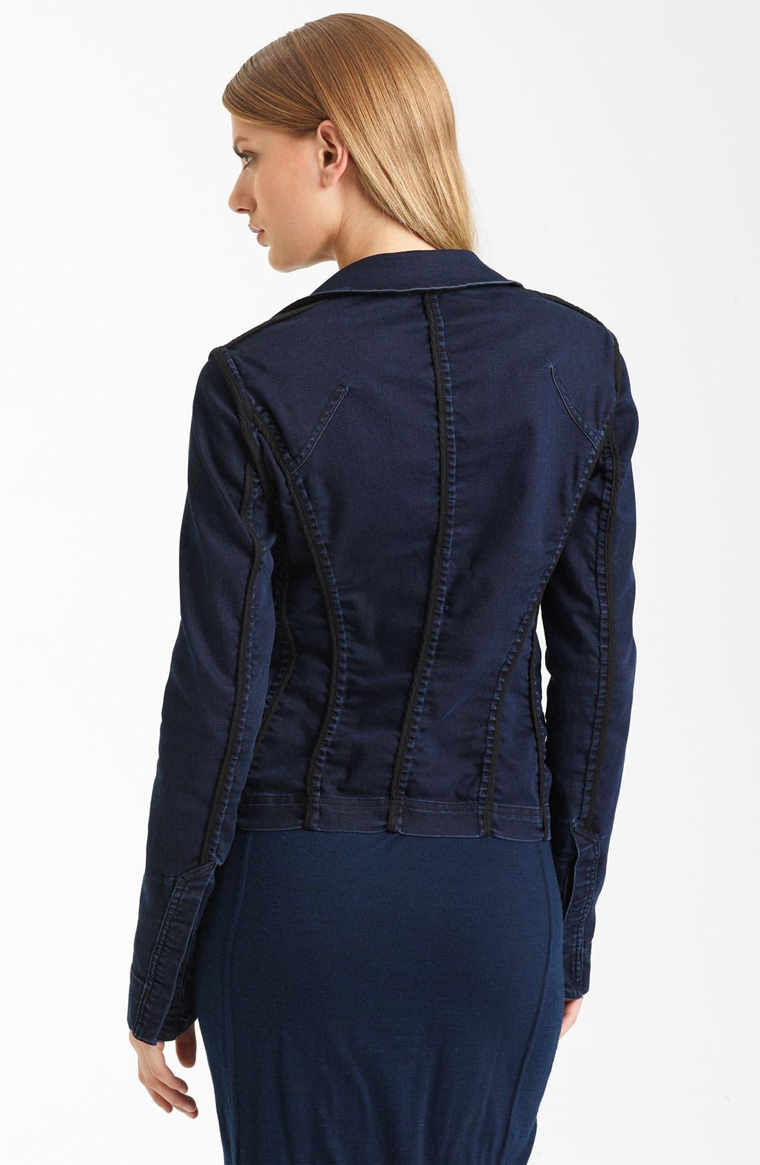 Alternate Image 2  - Donna Karan Collection Stretch Denim Jacket