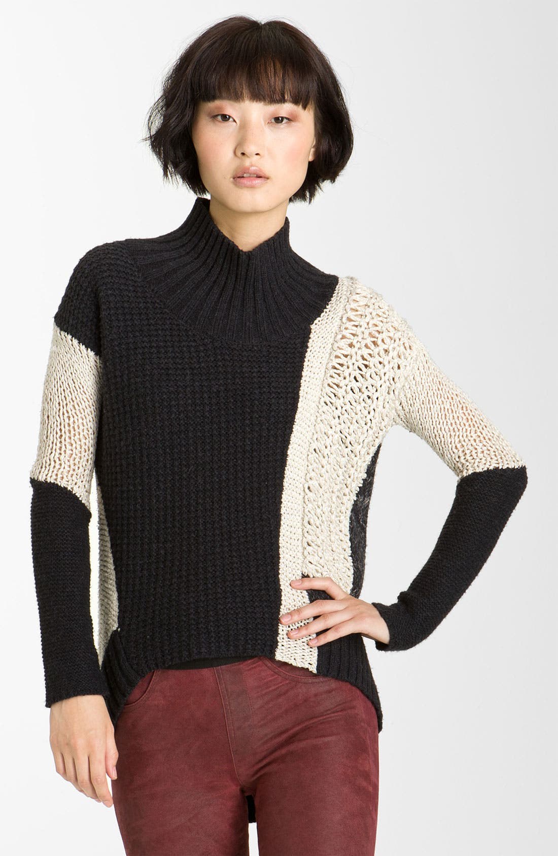 Main Image - Helmut Lang Melangé Knit Turtleneck Sweater