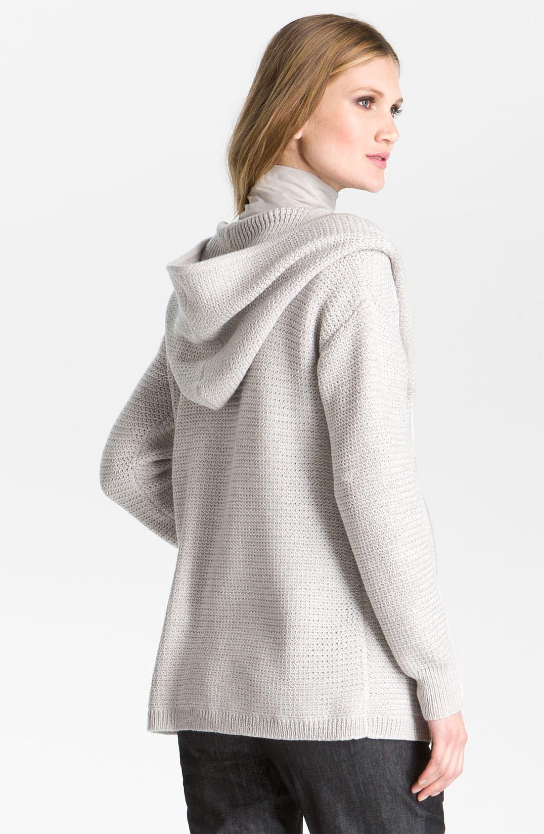 Alternate Image 3  - St. John Yellow Label Hooded Sweater Jacket