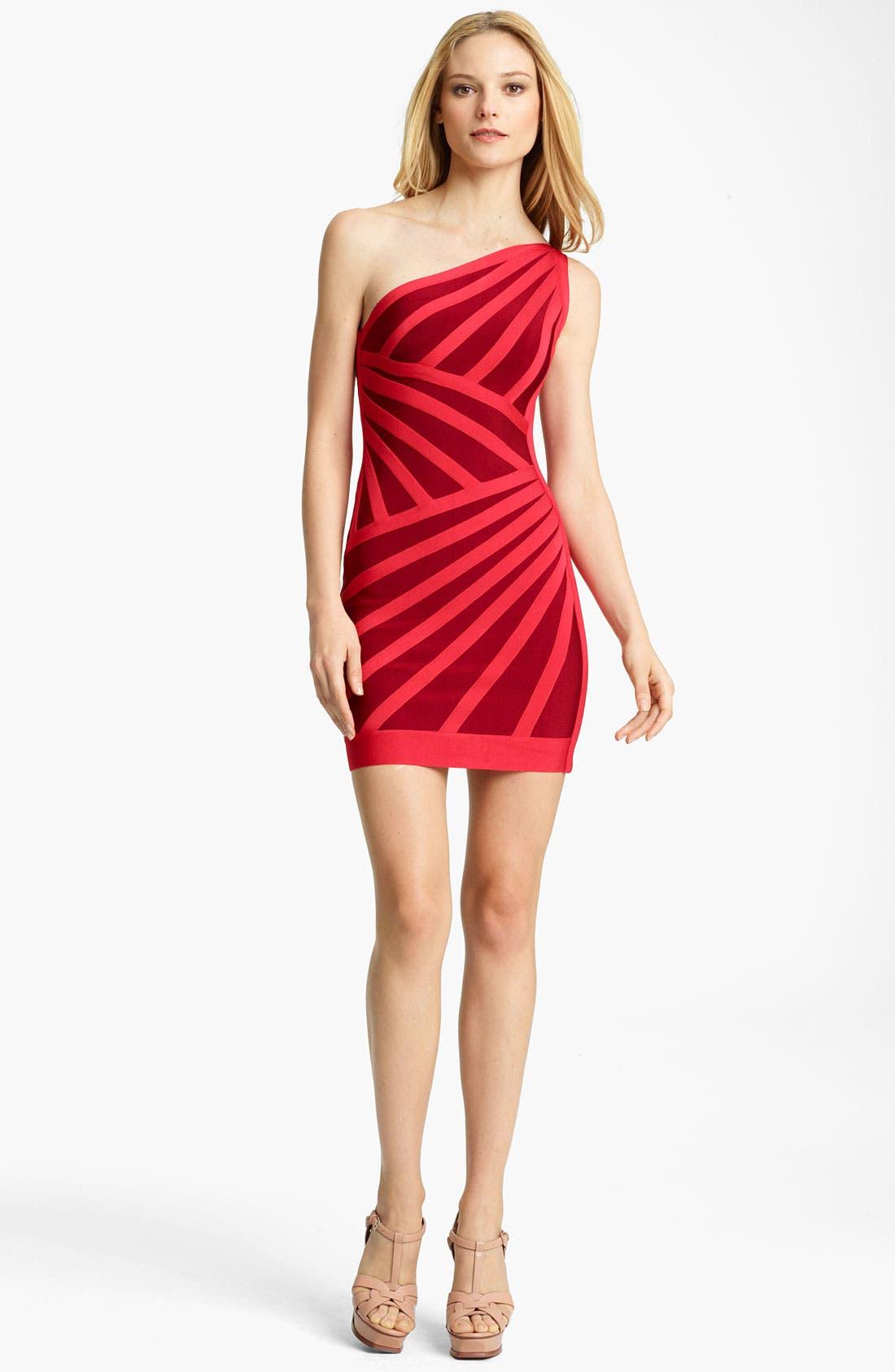 Alternate Image 1 Selected - Herve Leger One Shoulder Bandage Dress
