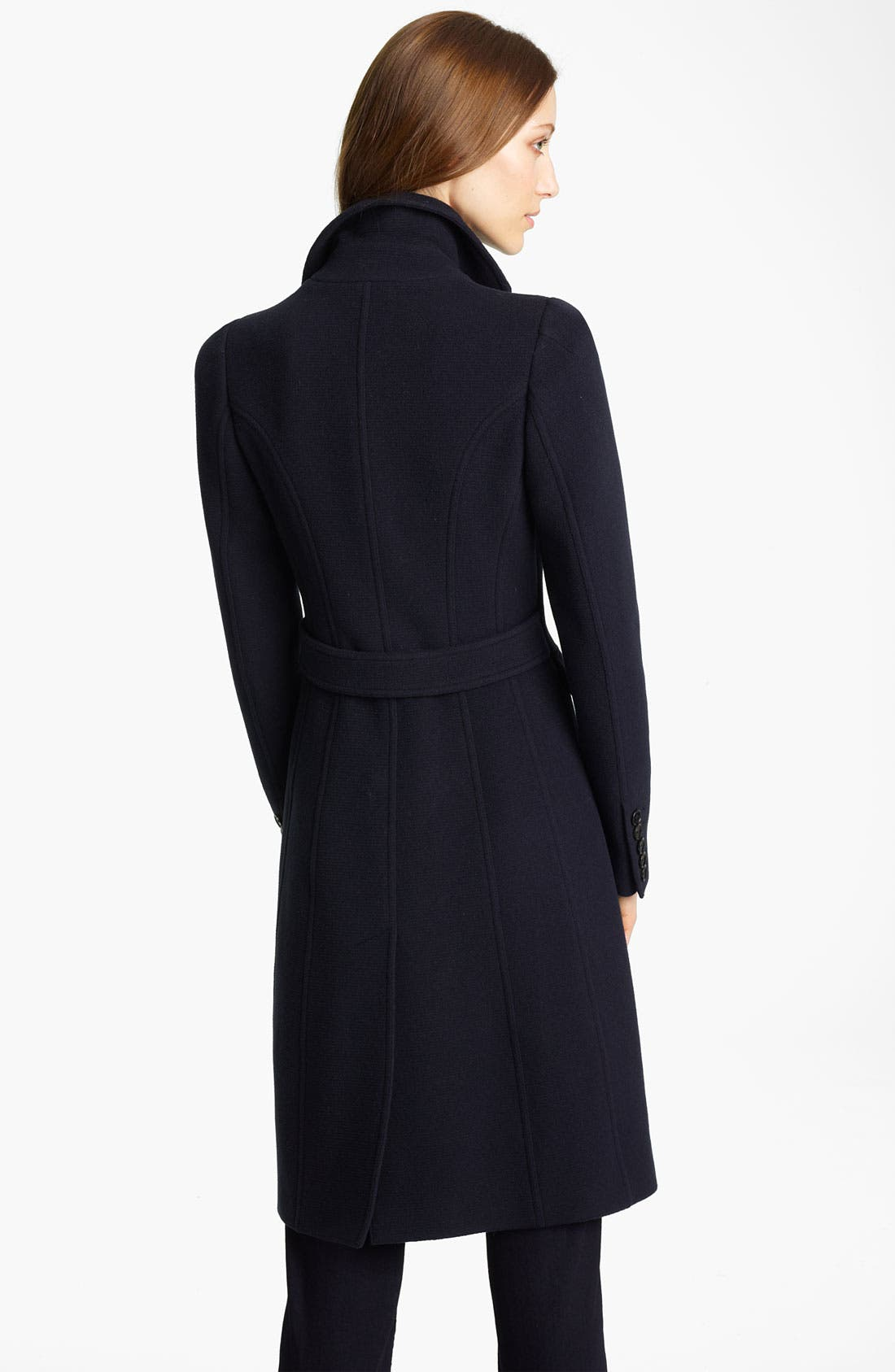 Alternate Image 2  - Burberry London Double Breasted Ottoman Wool Coat