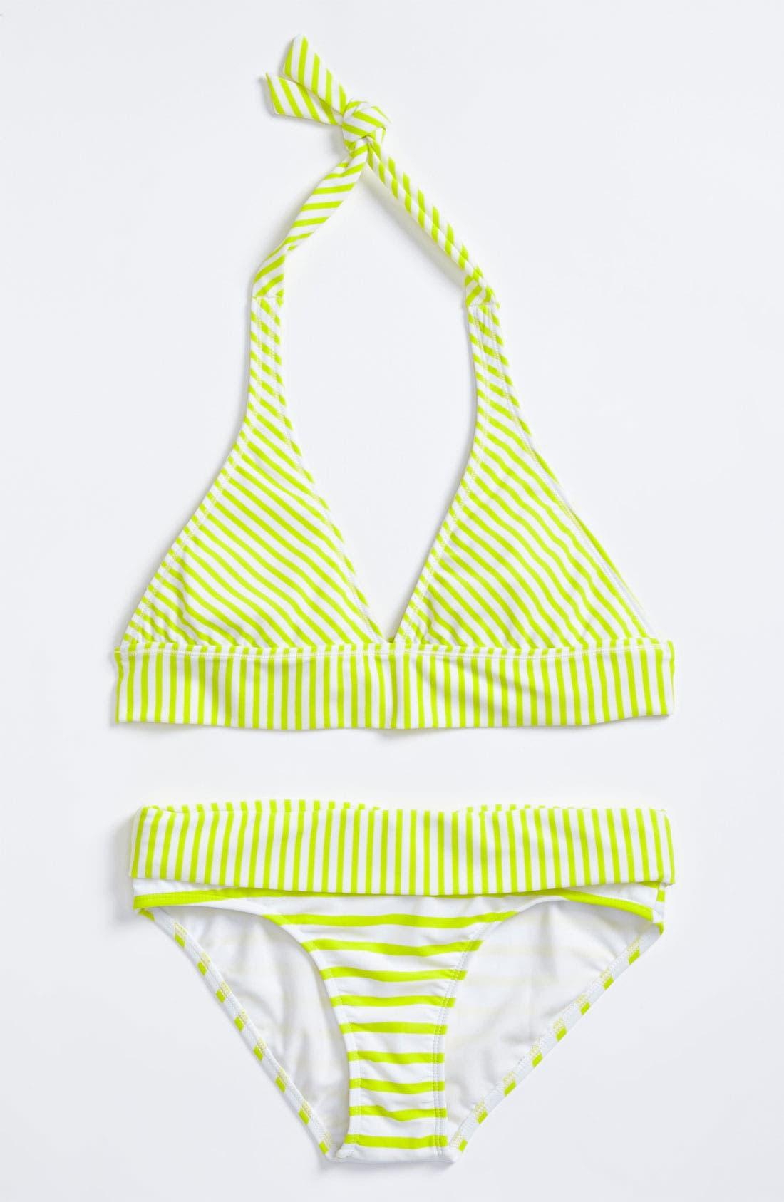 Alternate Image 3  - Roxy 'Shoreline' Reversible Two Piece Swimsuit (Big Girls)