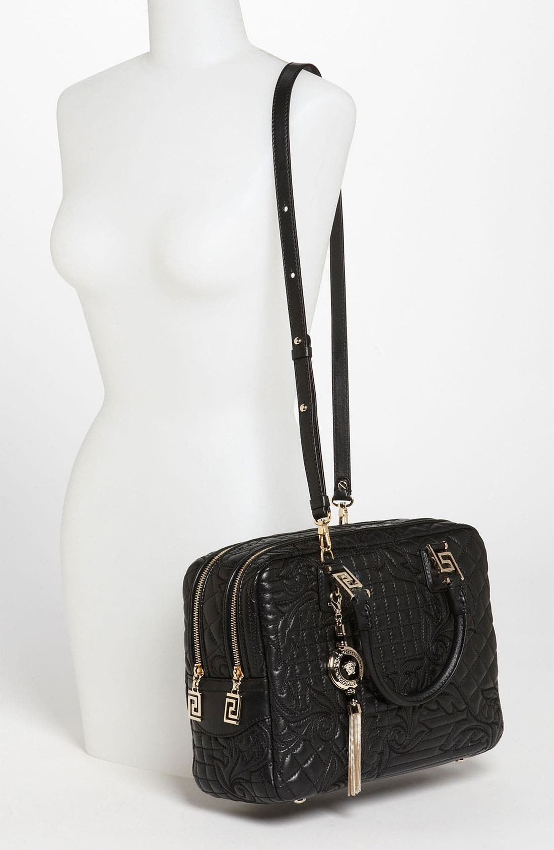 Alternate Image 2  - Versace 'Linea' Leather Satchel