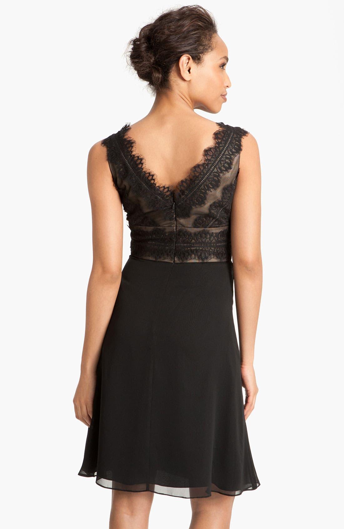 Alternate Image 2  - JS Collections Lace & Chiffon Sheath Dress