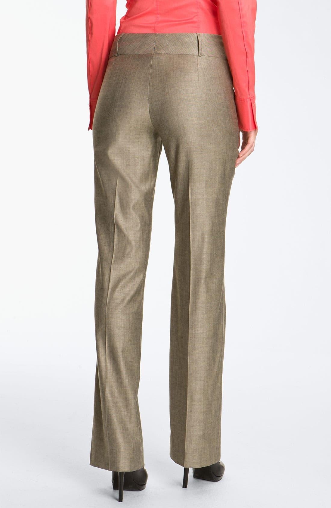 Alternate Image 2  - BOSS HUGO BOSS Flat Front Trousers
