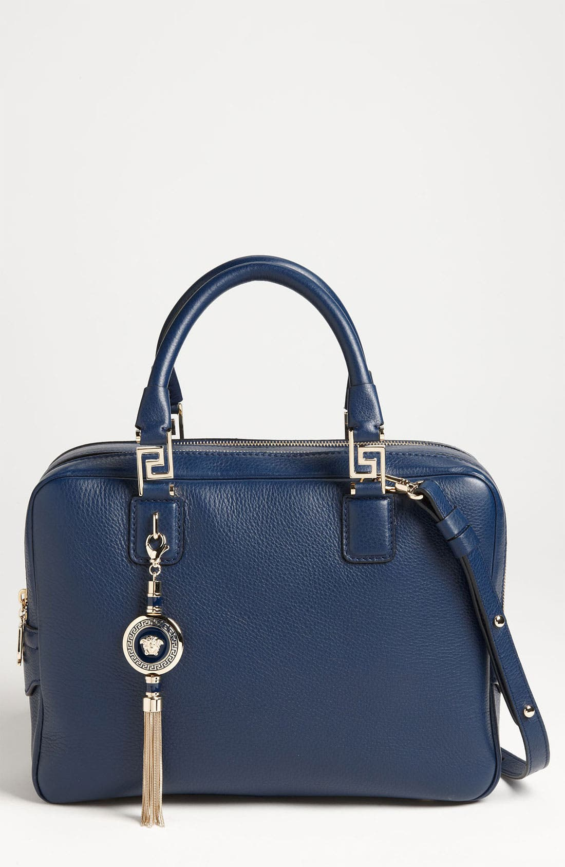 Main Image - Versace Structured Leather Satchel
