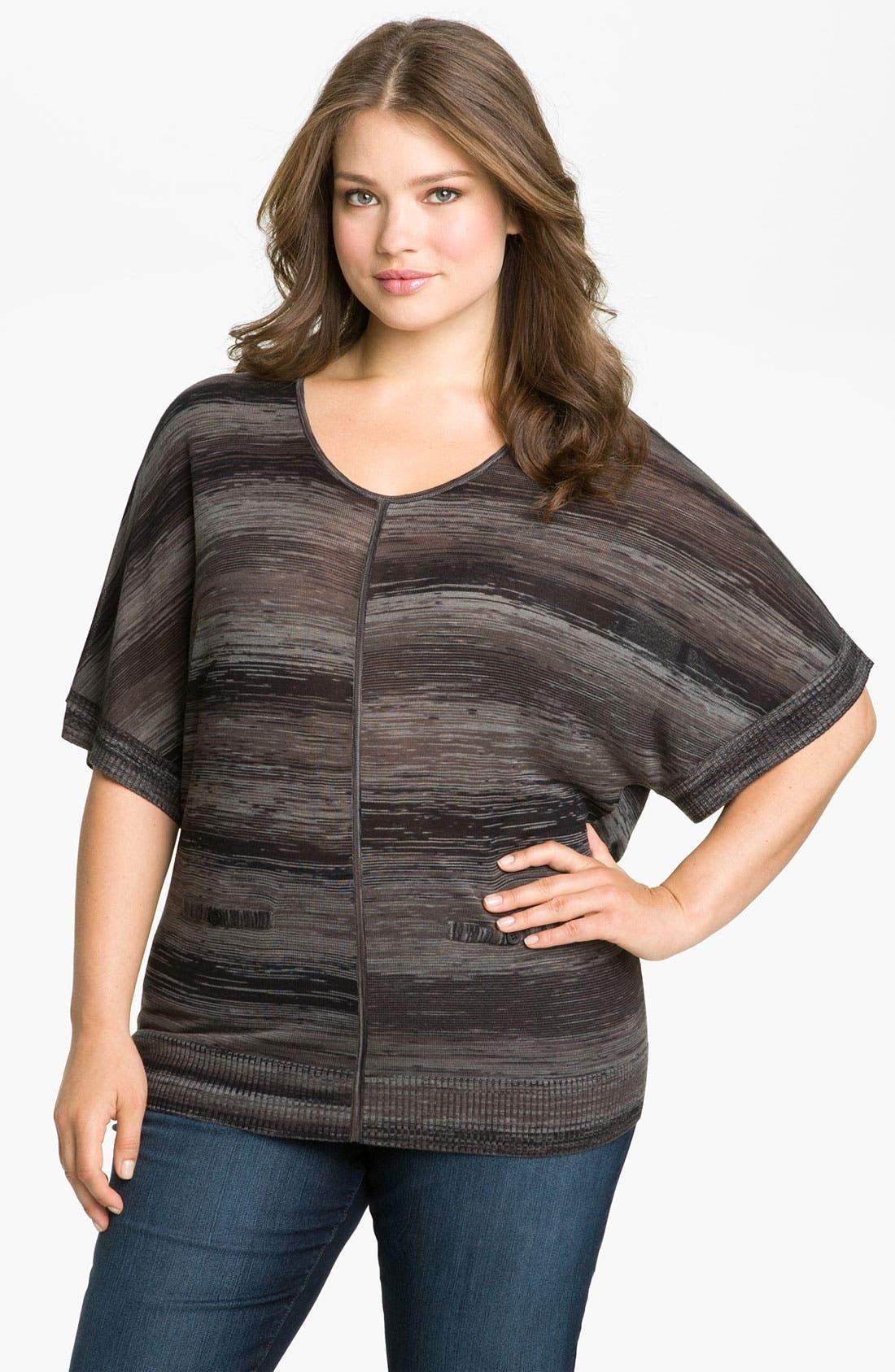 Main Image - Sejour Space Dye Sweater (Plus)