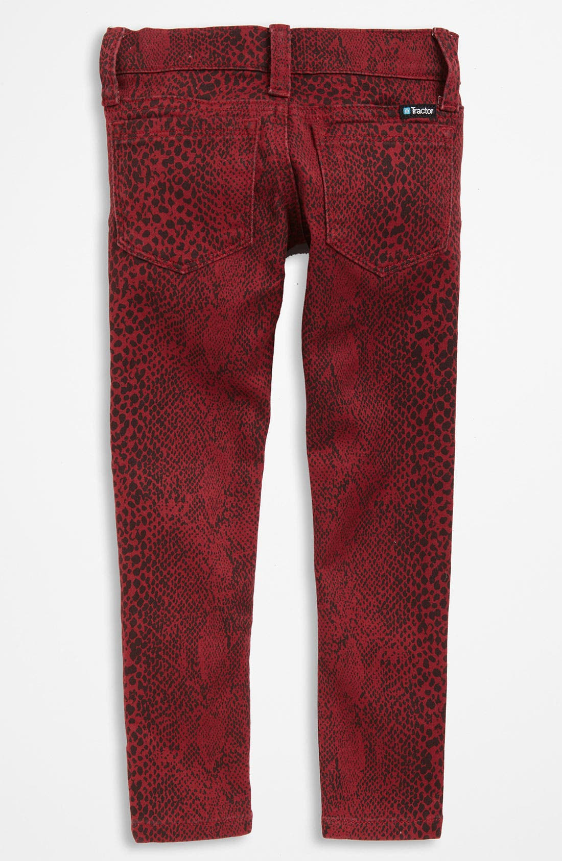 Alternate Image 1 Selected - Tractr Animal Print Jeans (Little Girls)