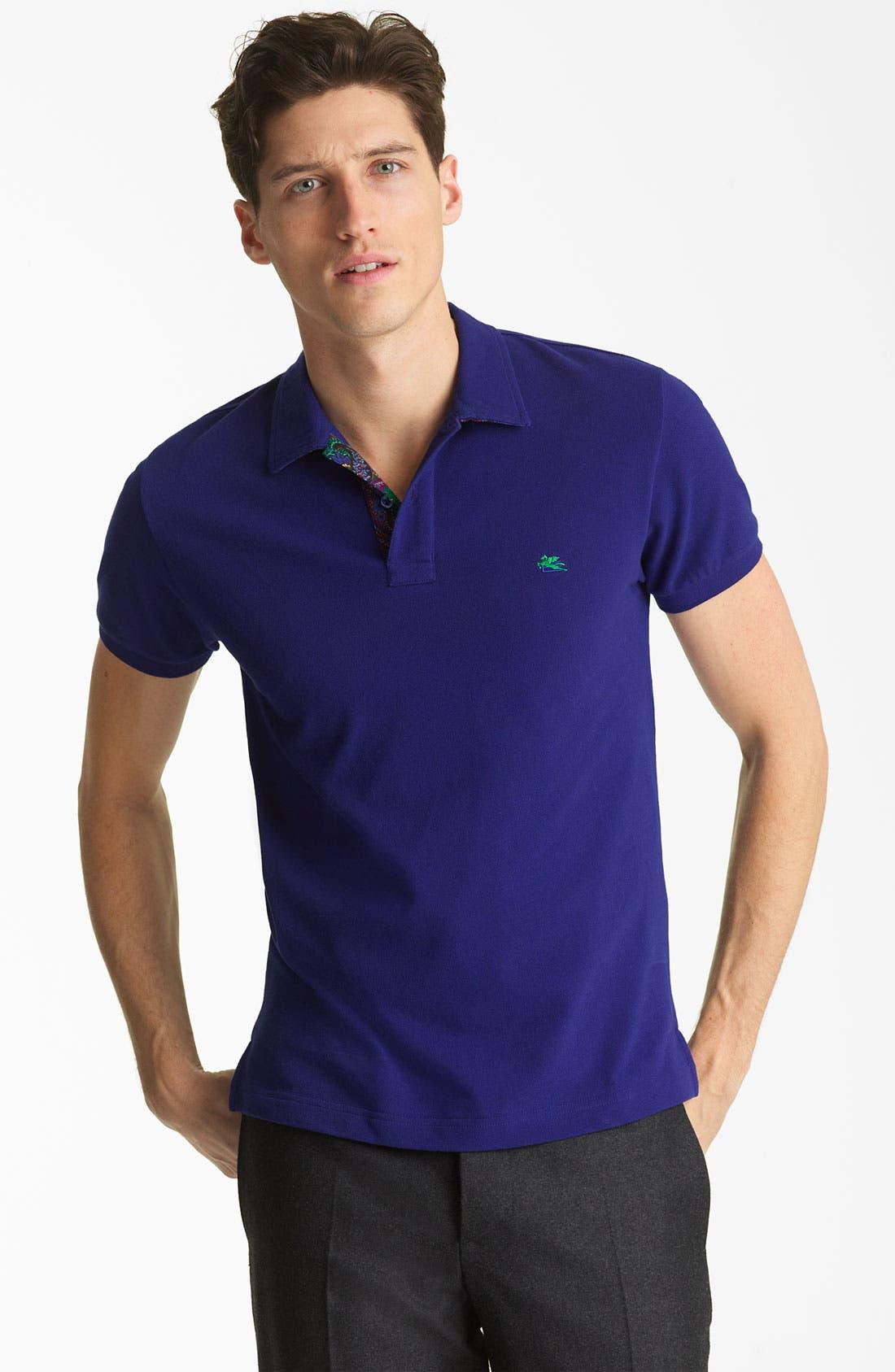 Main Image - Etro Short Sleeve Polo