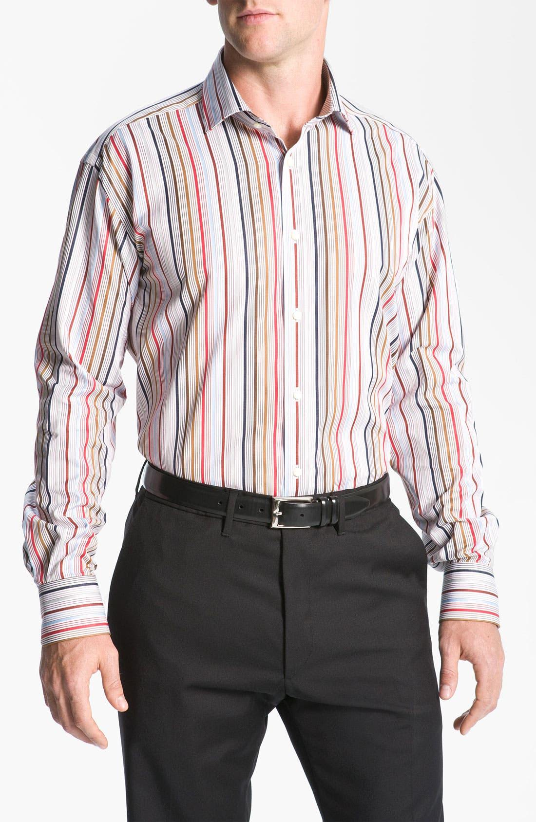 Alternate Image 1 Selected - Thomas Dean Stripe Sport Shirt