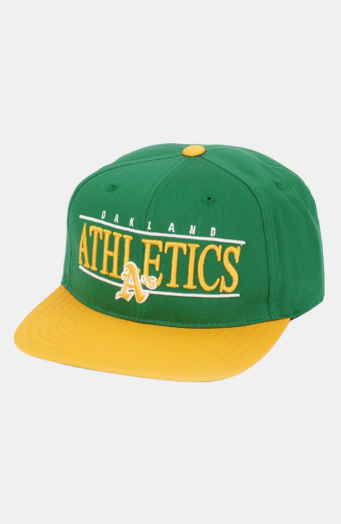 Alternate Image 1 Selected - American Needle 'Oakland Athletics - Nineties' Twill Snapback Baseball Cap