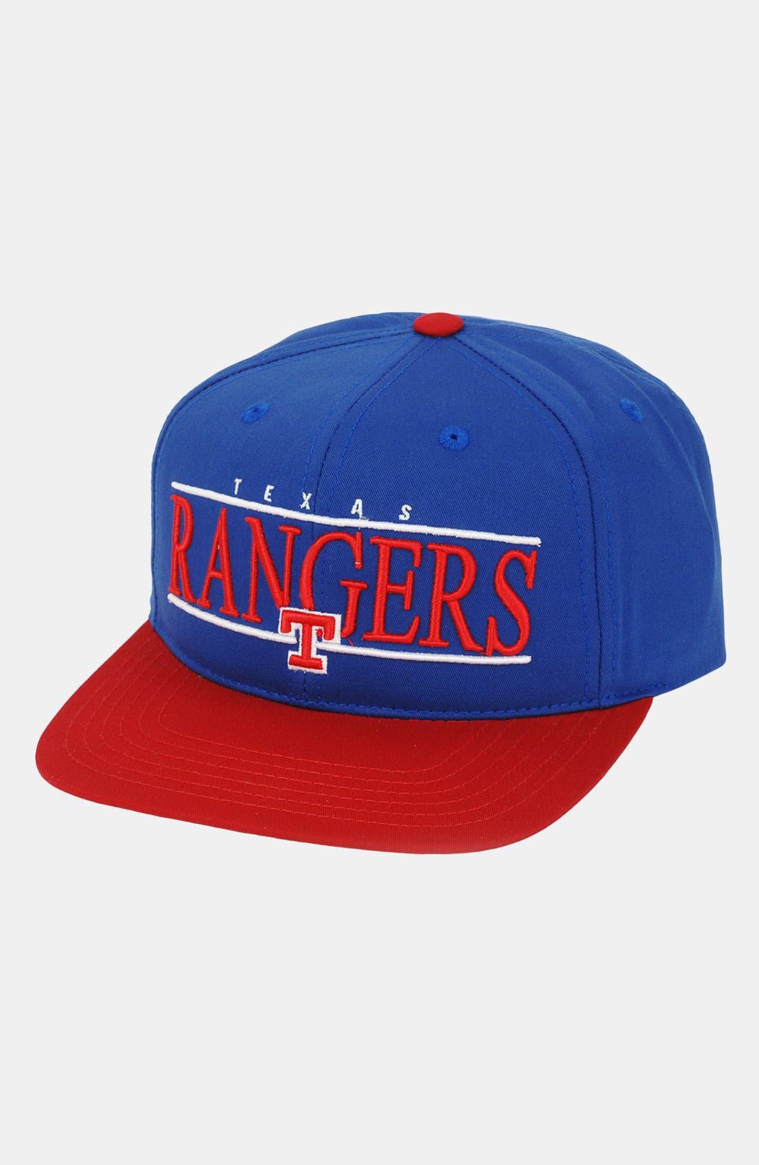 Main Image - American Needle 'Texas Rangers - Nineties' Twill Snapback Baseball Cap