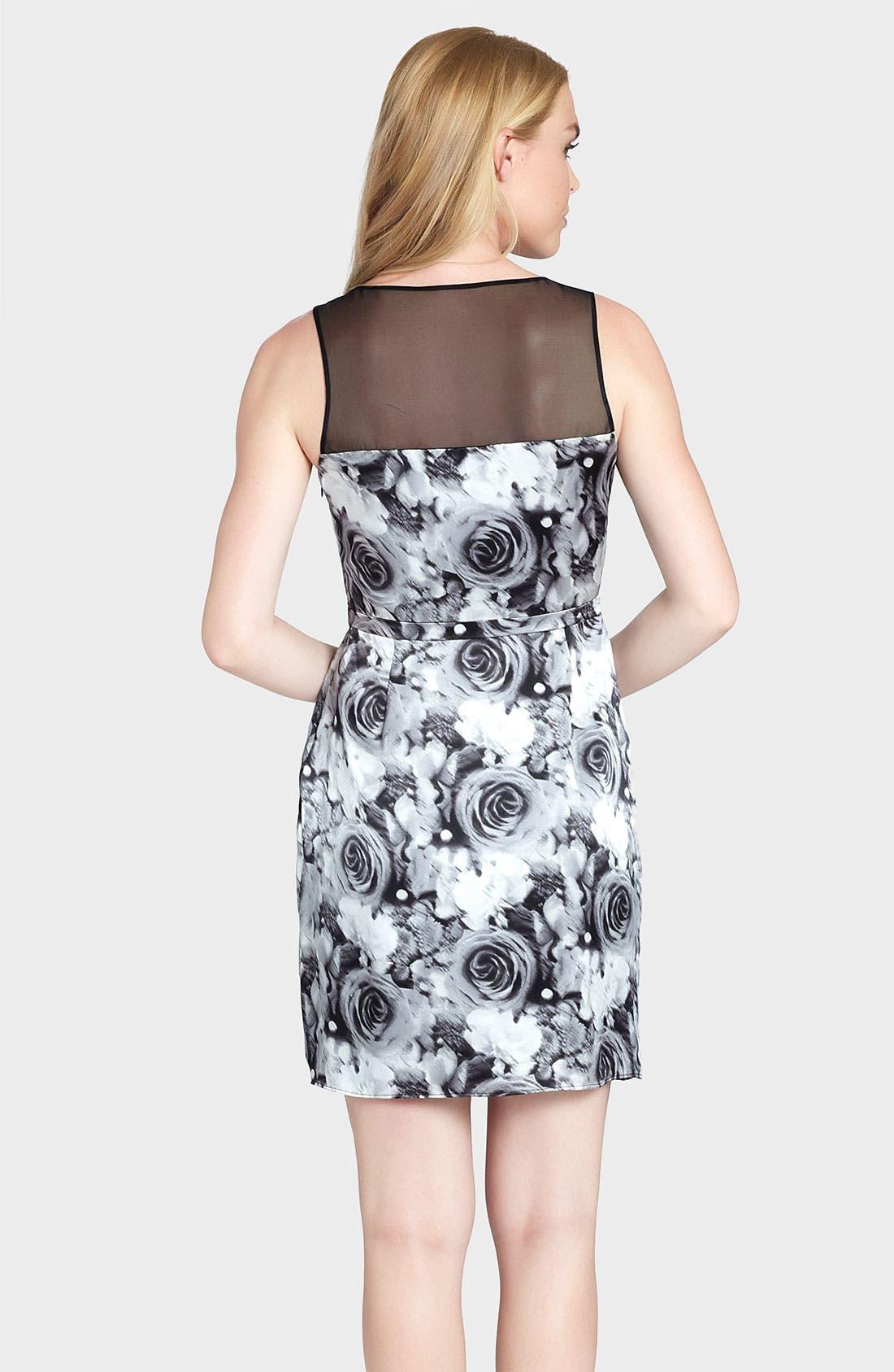 Alternate Image 2  - Cynthia Steffe 'Elle Print Illusion Yoke Silk Sheath Dress