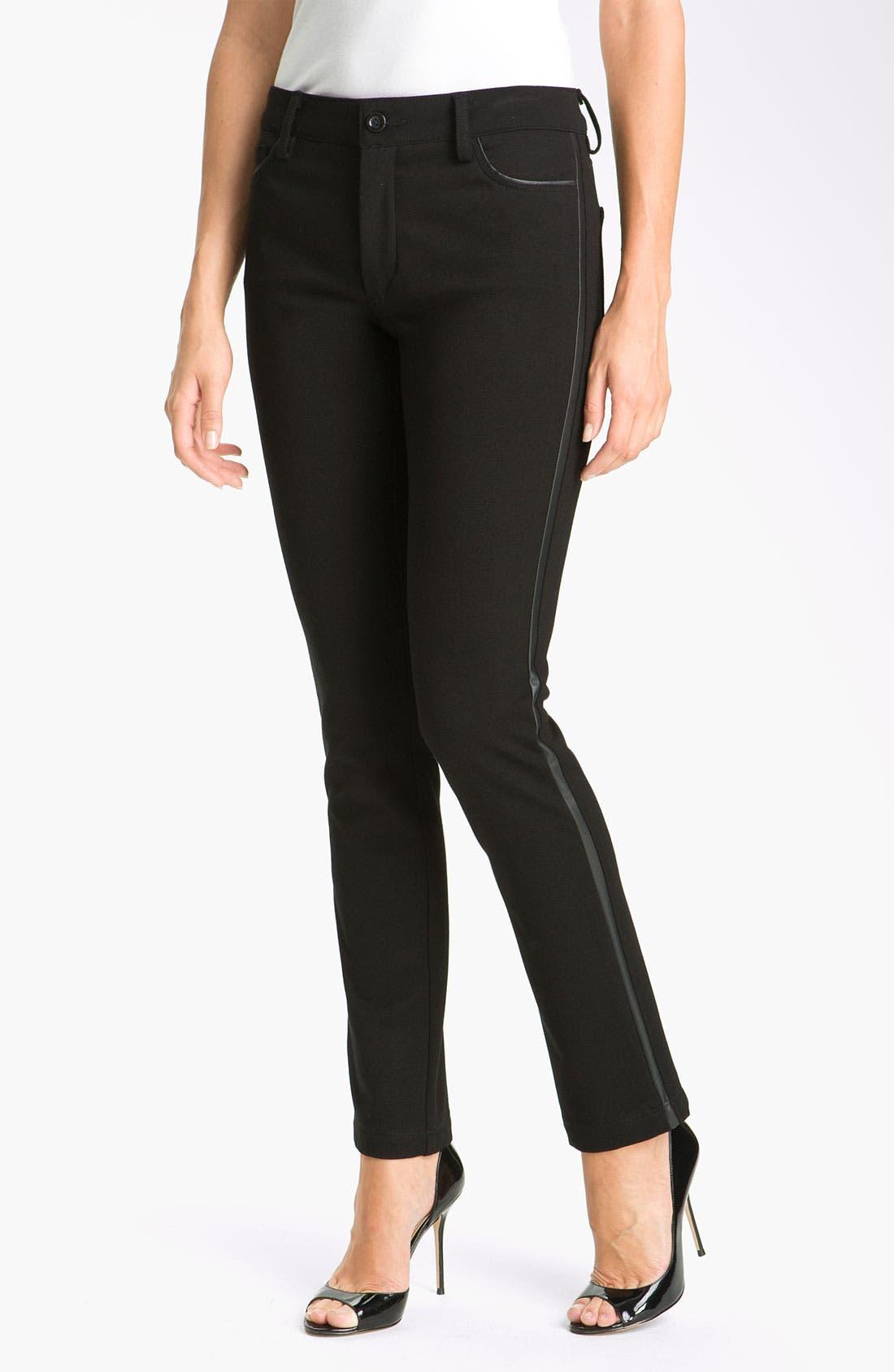 Alternate Image 1 Selected - NYDJ 'Pamela' Skinny Stretch Ponte Pants (Petite)