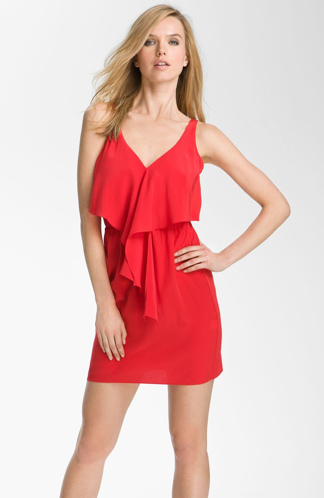 Alternate Image 1 Selected - Amanda Uprichard 'Branston' Ruffle Silk Dress
