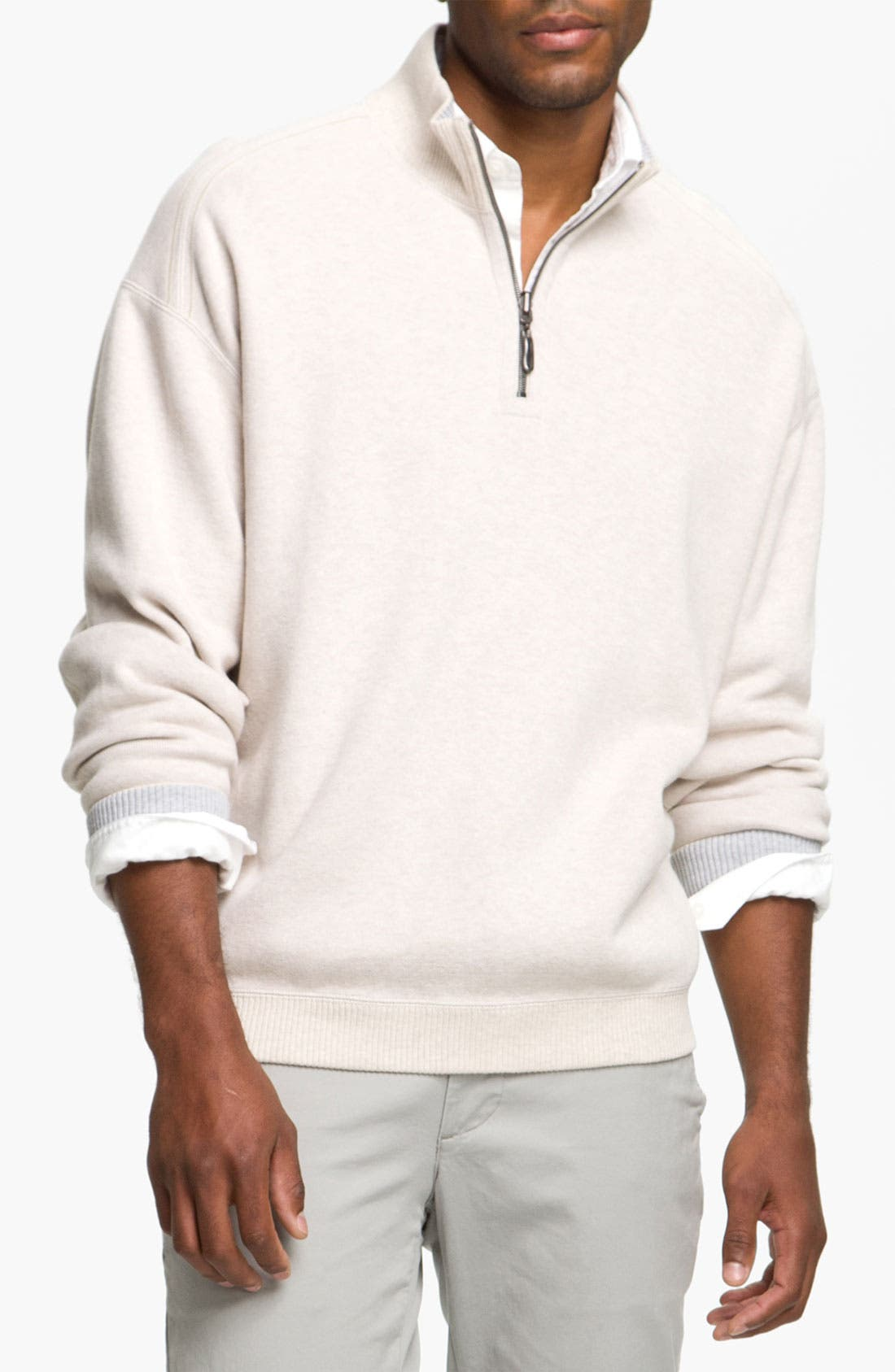Main Image - Tommy Bahama 'Flip Side Pro' Reversible Half Zip Pullover