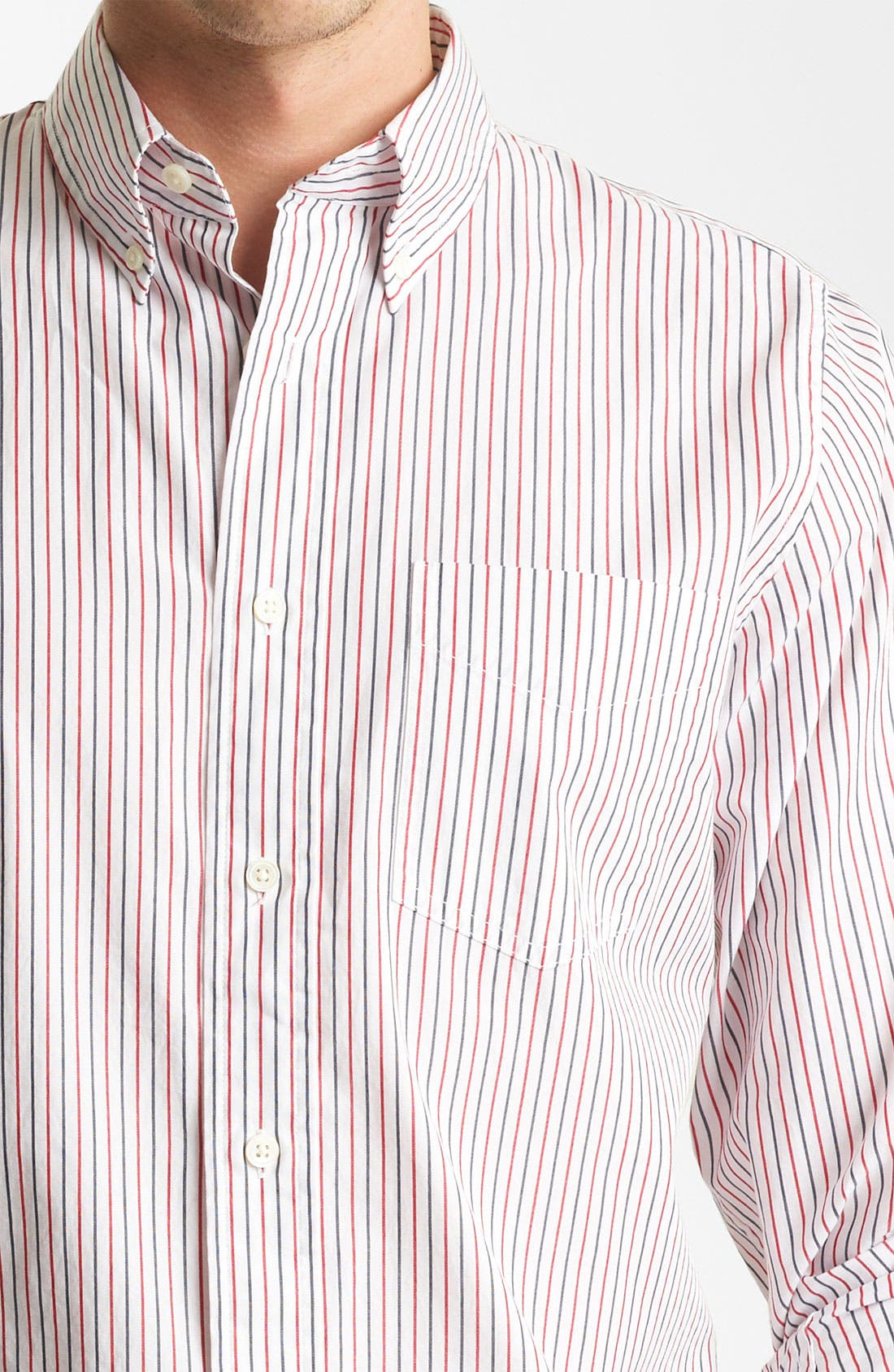 Alternate Image 3  - Jack Spade 'Cale' Stripe Sport Shirt