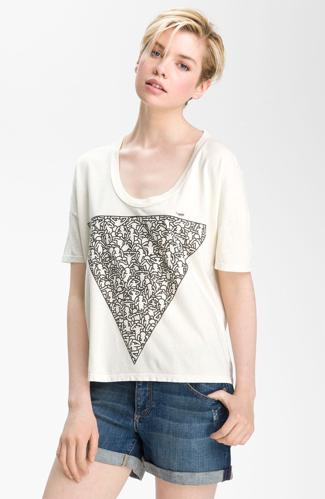 Alternate Image 1 Selected - Obey 'Triangle of Friends' Graphic Crop Top