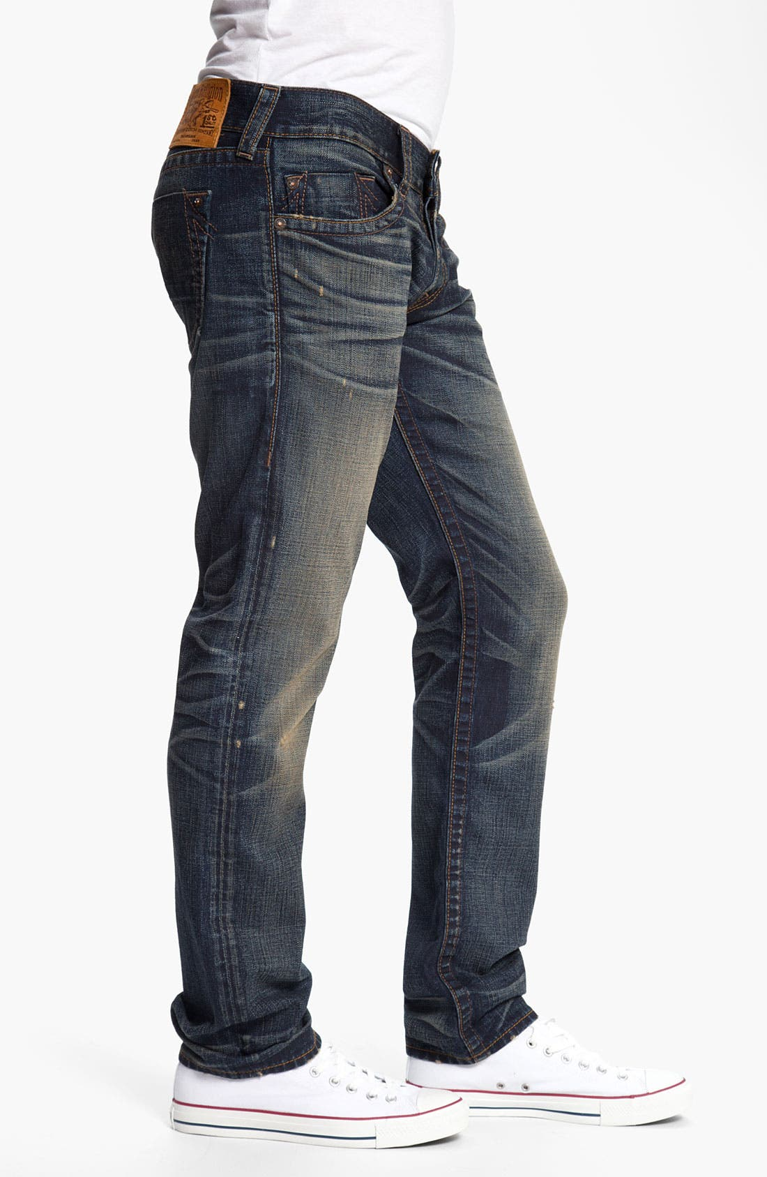 Alternate Image 3  - True Religion Brand Jeans 'Geno' Slim Straight Leg Jeans (Snyper)